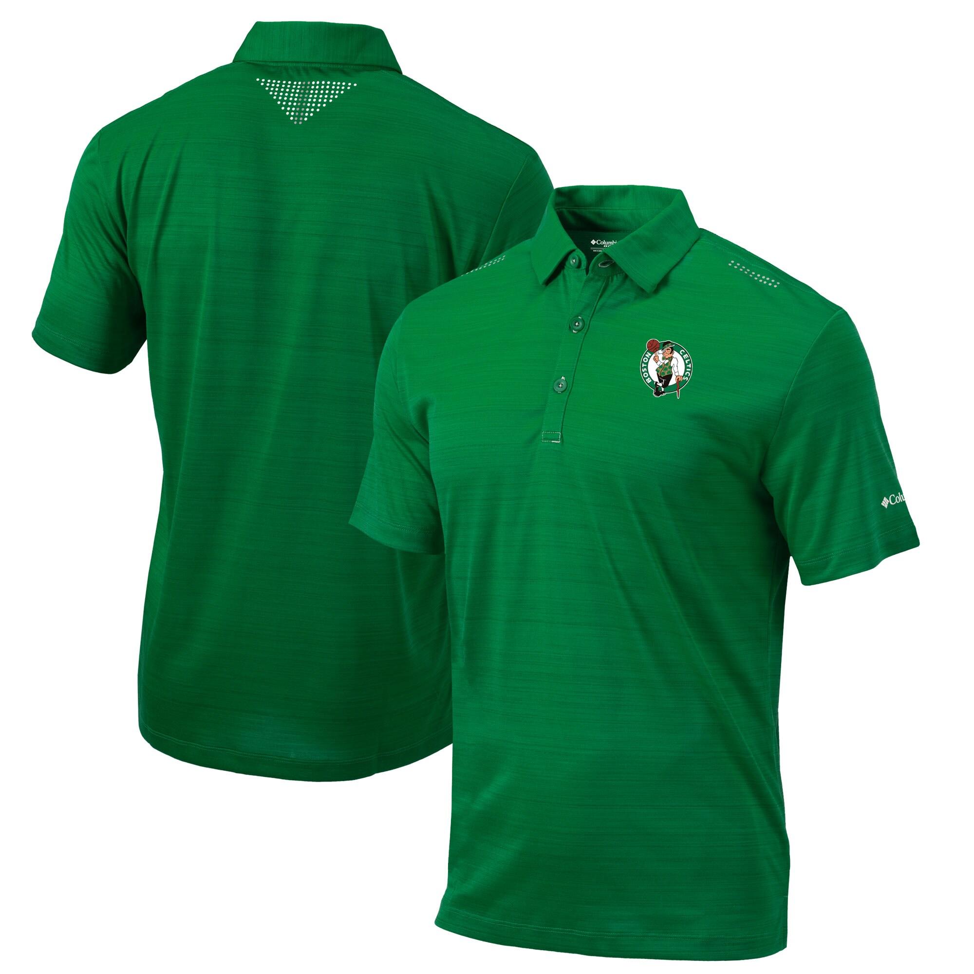 Boston Celtics Columbia Omni-Wick Printed Dot Polo - Green