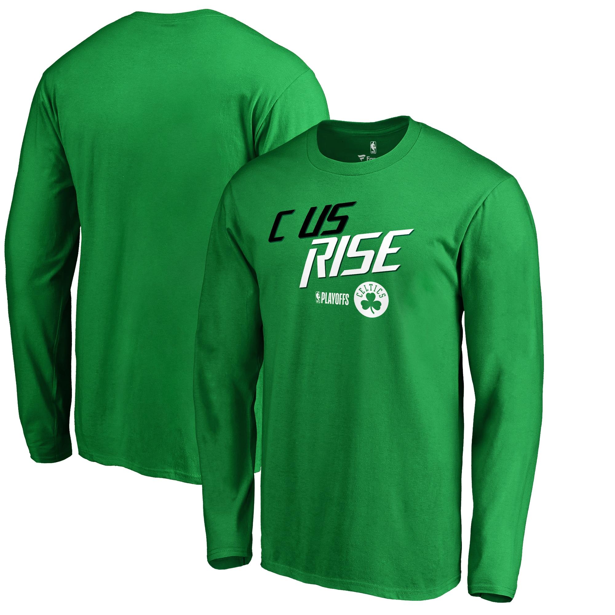Boston Celtics Fanatics Branded 2018 NBA Playoffs Slogan Long Sleeve T-Shirt - Kelly Green