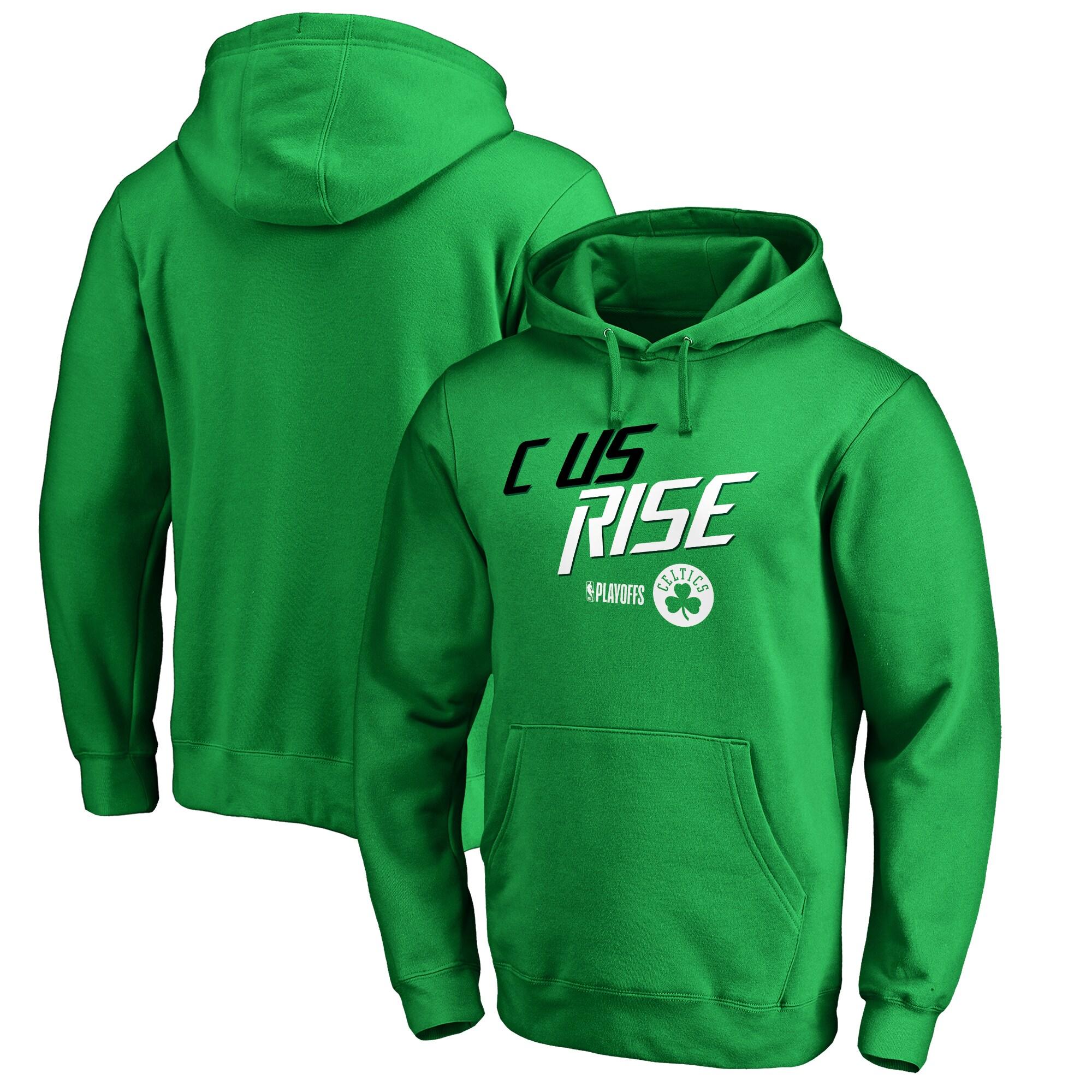 Boston Celtics Fanatics Branded 2018 NBA Playoffs Slogan Pullover Hoodie - Kelly Green