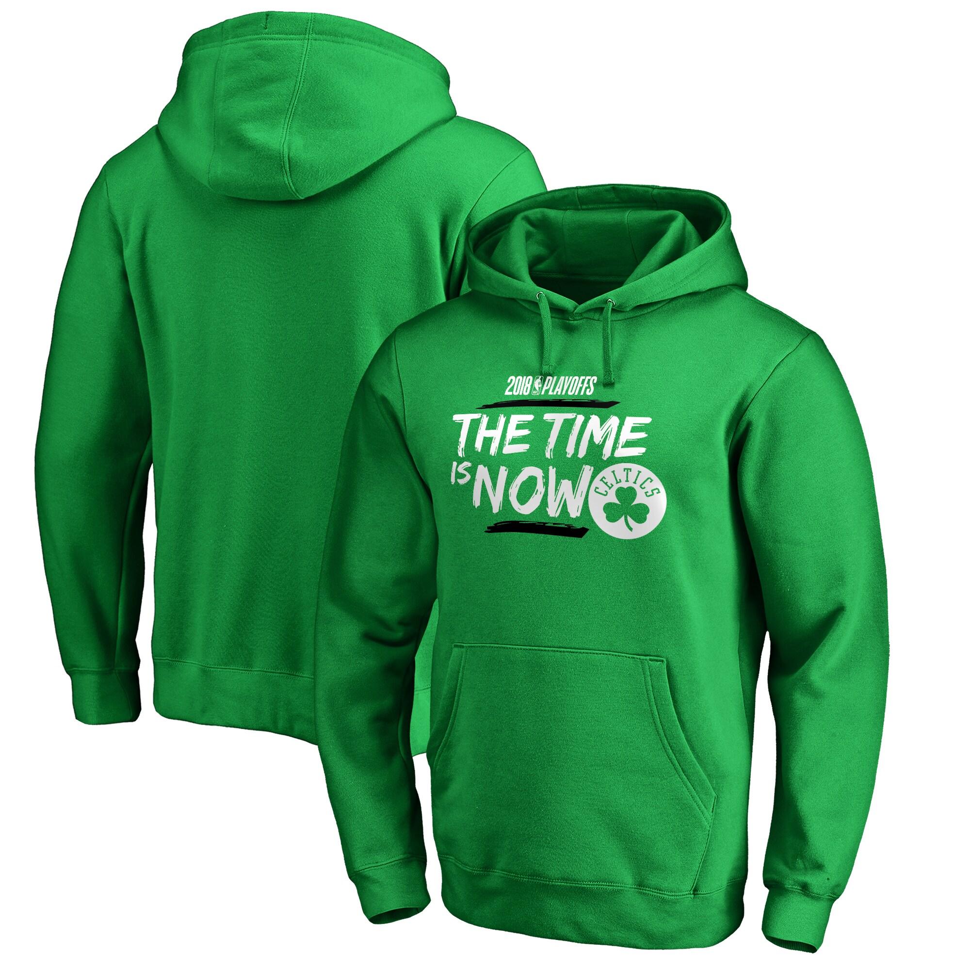 Boston Celtics Fanatics Branded 2018 NBA Playoffs Bet Slogan Pullover Hoodie - Kelly Green