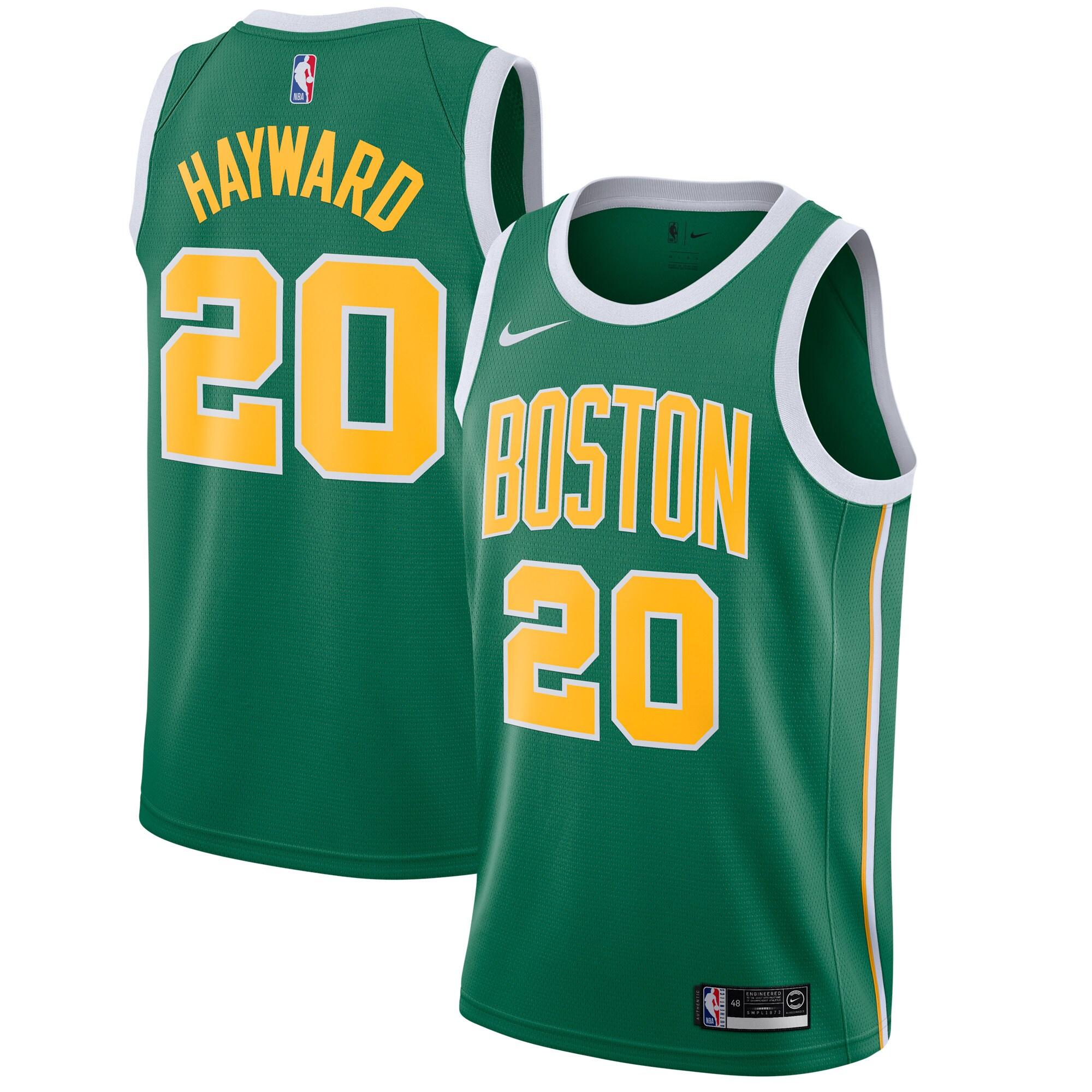 Gordon Hayward Boston Celtics Nike 2018/19 Swingman Jersey Green - Earned Edition