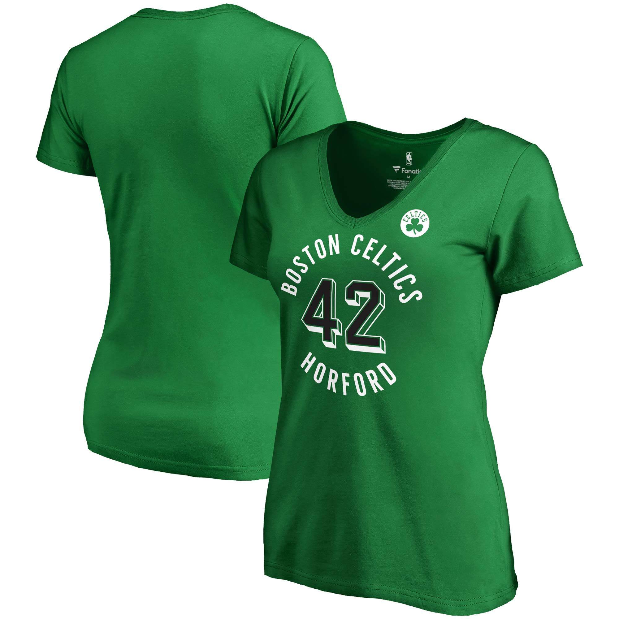 Al Horford Boston Celtics Fanatics Branded Women's Notable Name & Number V-Neck T-Shirt - Kelly Green