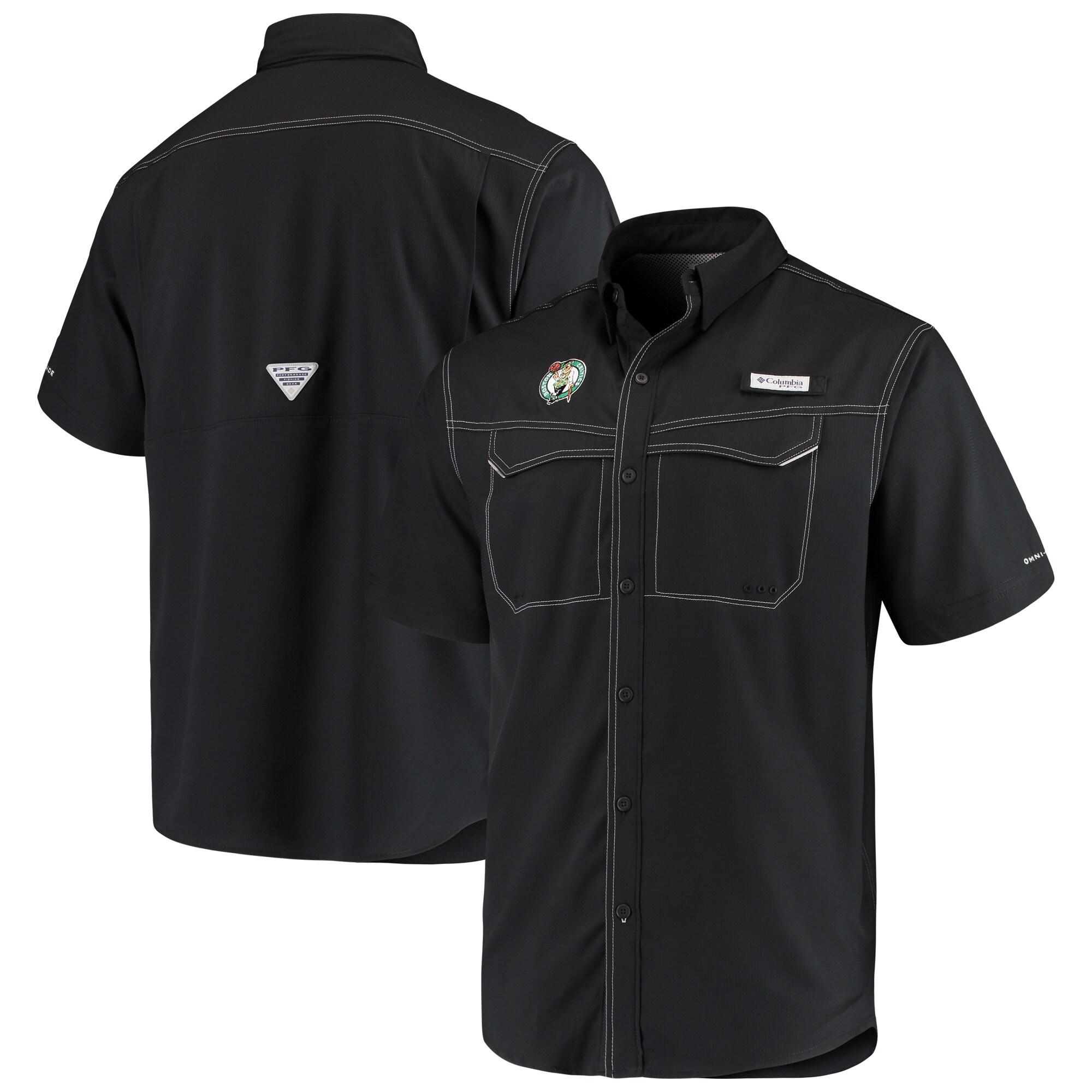 Boston Celtics Columbia Low Drag Offshore Omni-Shade Button-Up Shirt - Black