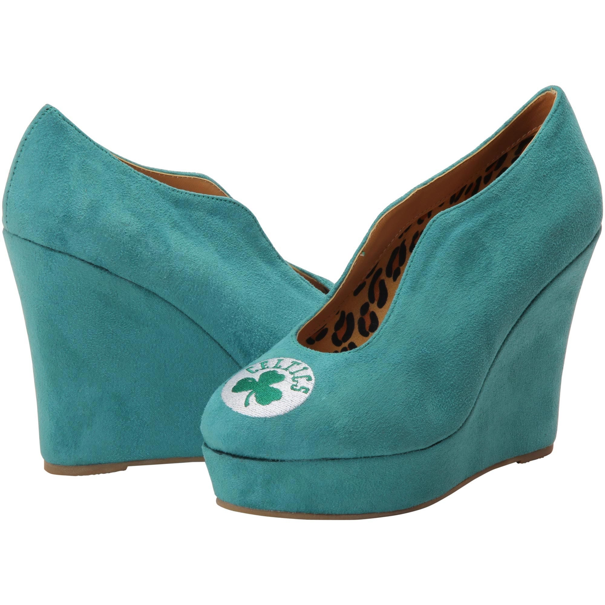 Boston Celtics Cuce Shoes Women's Spirited Wedge Pumps - Kelly Green