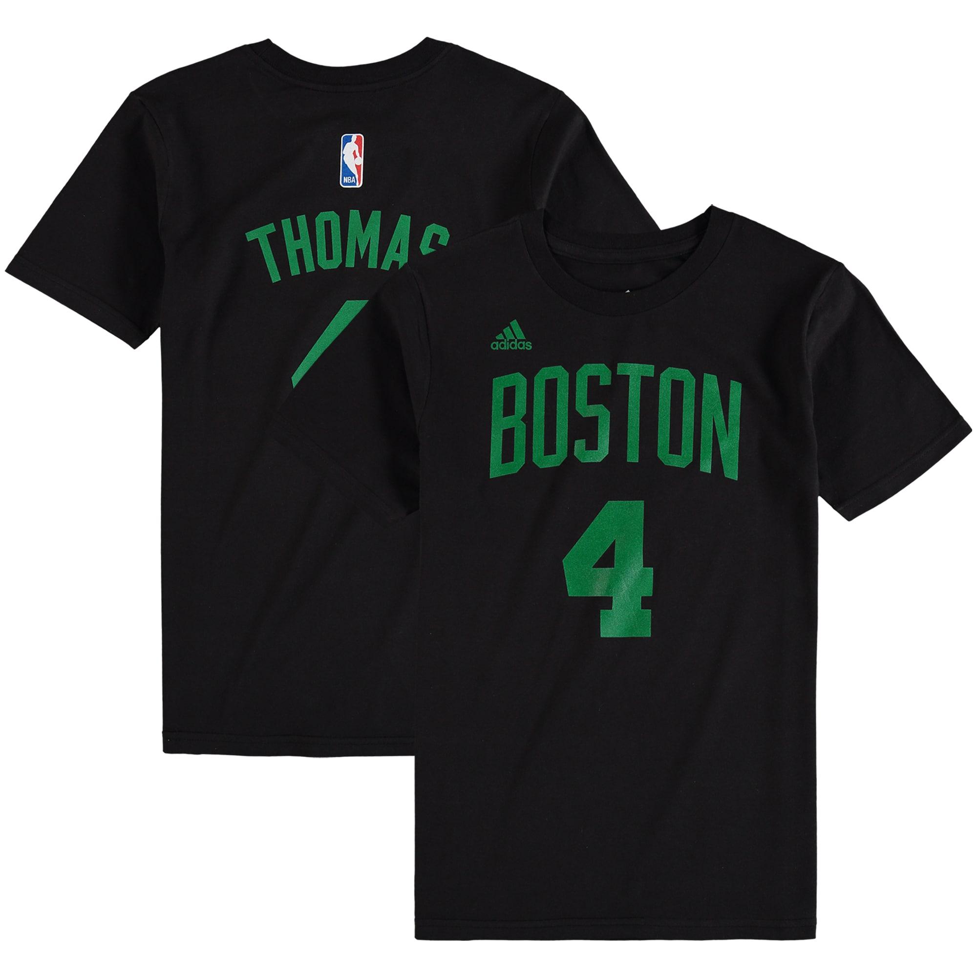 Isaiah Thomas Boston Celtics adidas Youth Game Time Flat Name & Number T-Shirt - Black