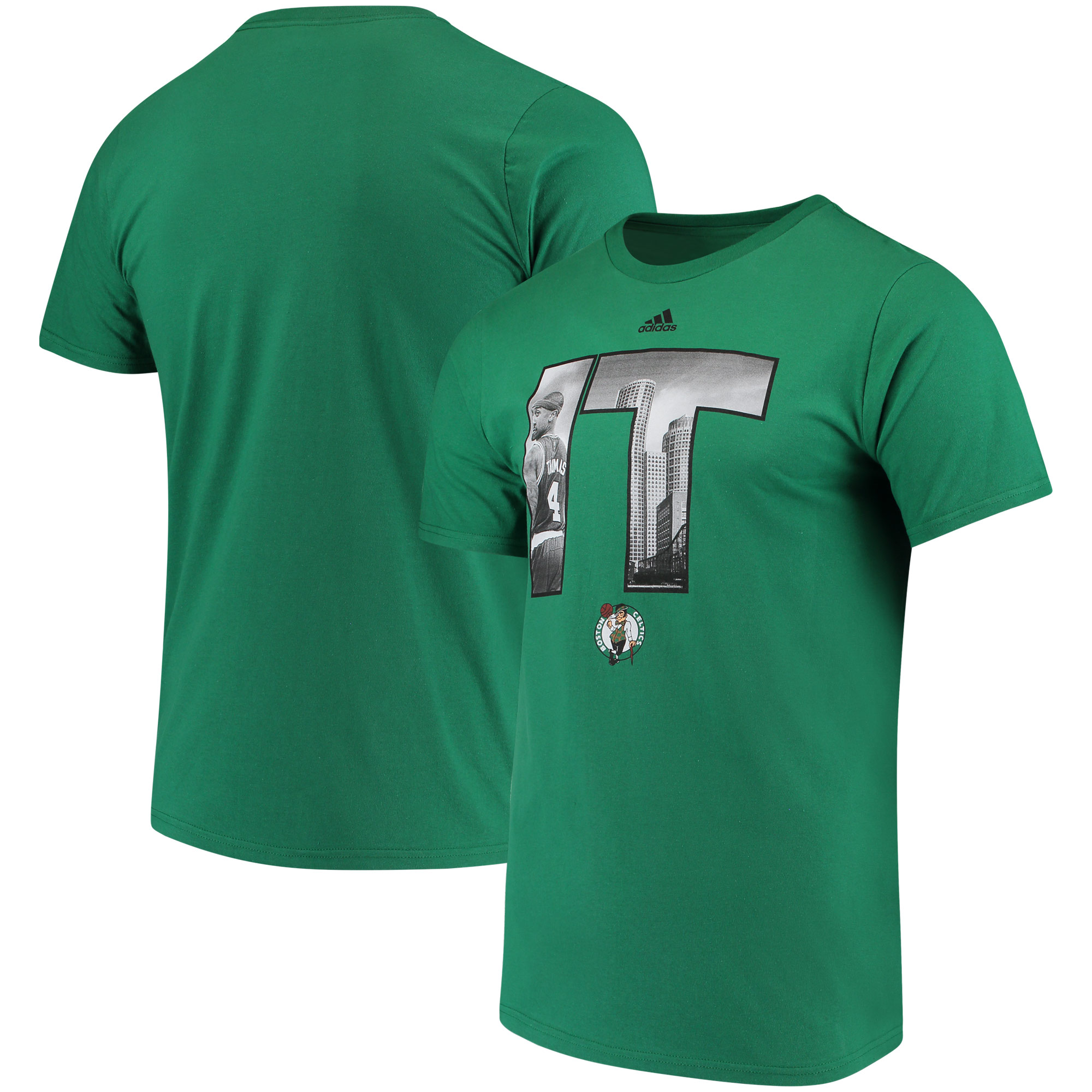 Isaiah Thomas Boston Celtics adidas Initial Landmark T-Shirt - Green