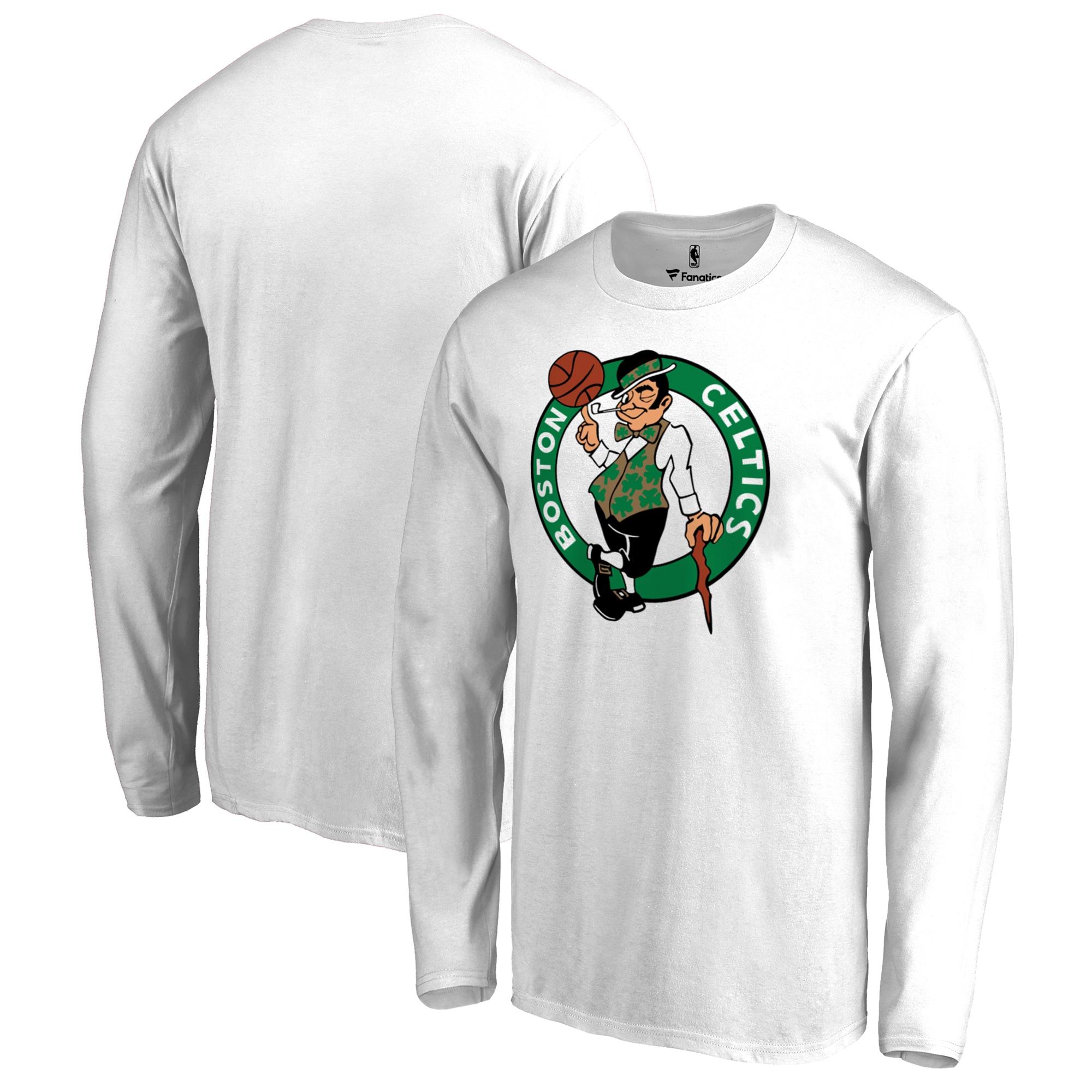 Boston Celtics Fanatics Branded Big & Tall Team Primary Logo Long Sleeve T-Shirt - White