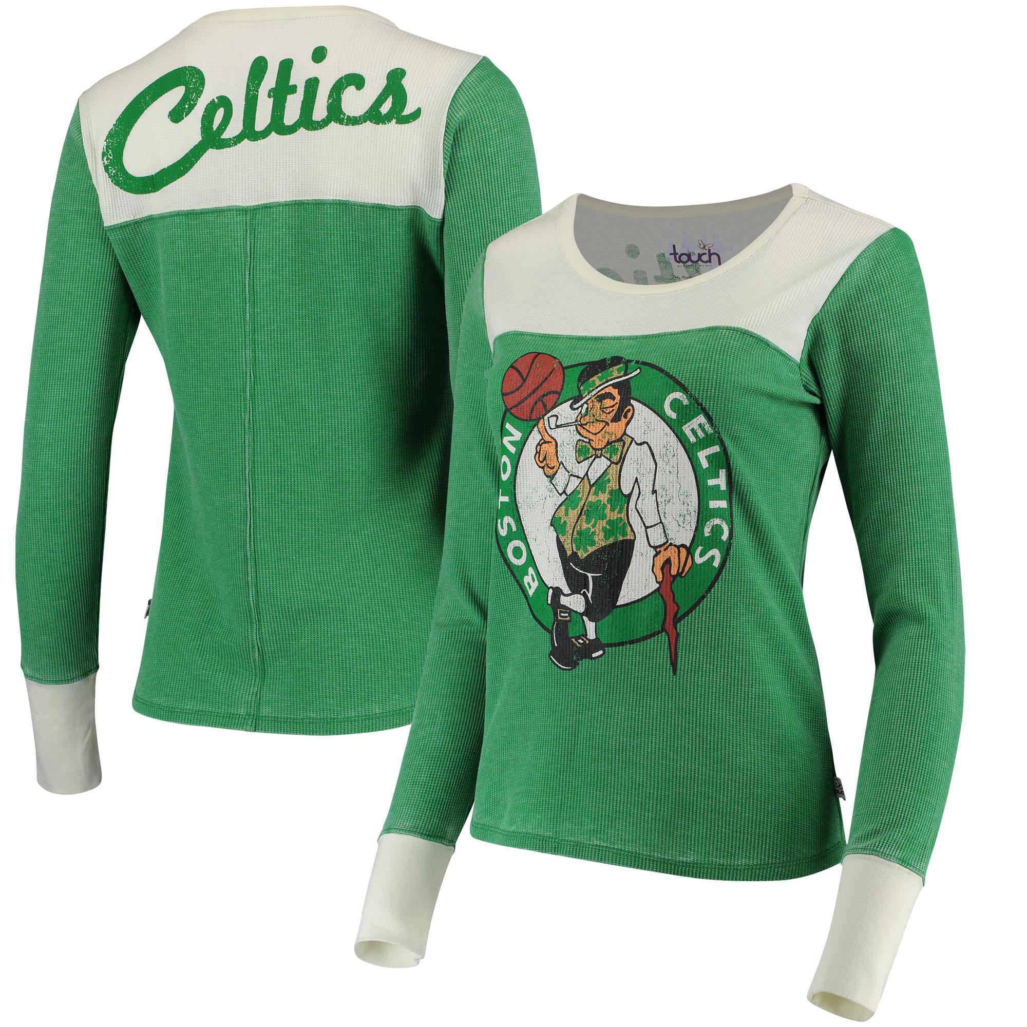 Boston Celtics G-III Sports by Carl Banks Women's Blindside Long Sleeve Tri-Blend Thermal T-Shirt - Kelly Green/White