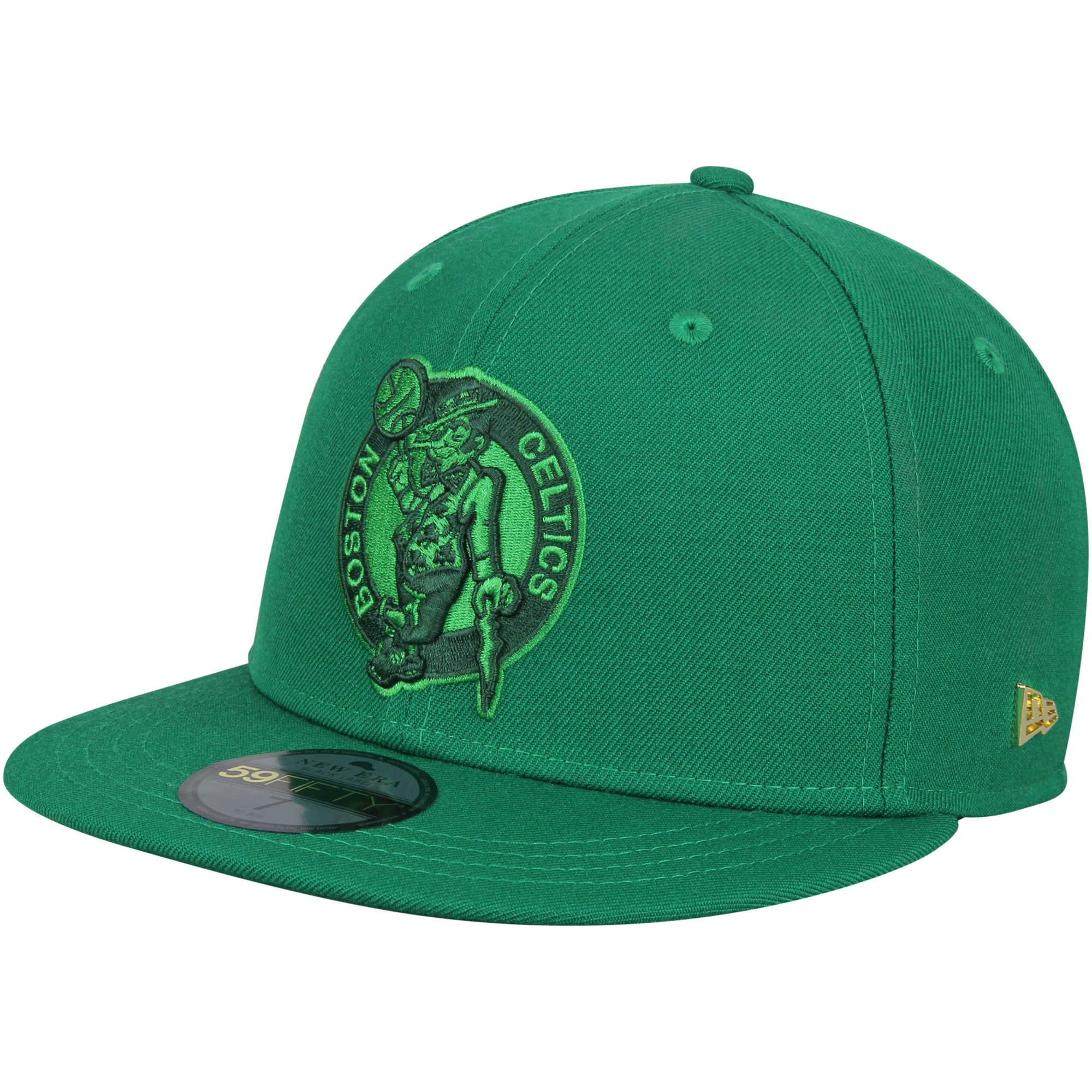 Boston Celtics New Era Essential Black Label Series 59FIFTY Fitted Hat - Kelly Green