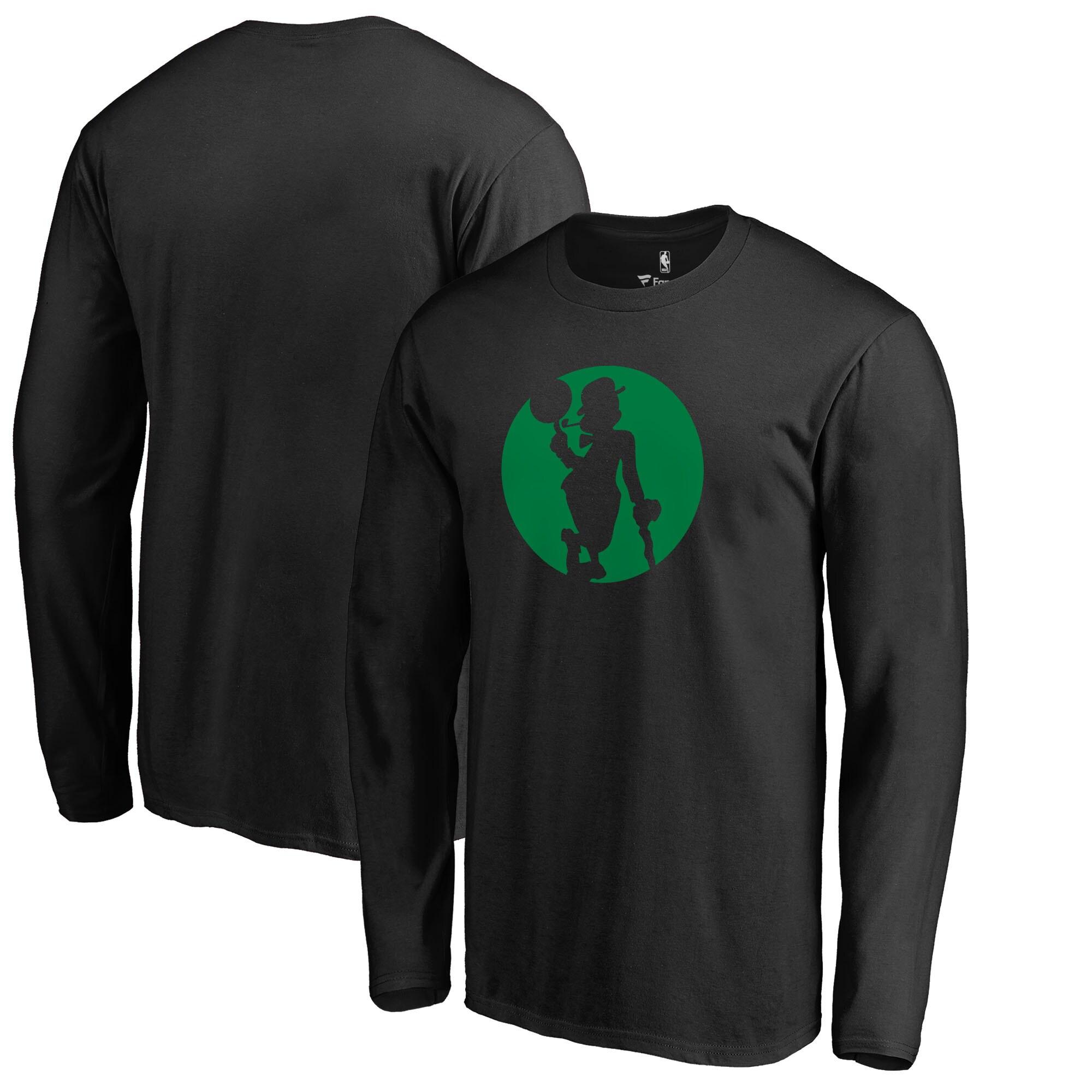 Boston Celtics Fanatics Branded Alternate Logo Long Sleeve T-Shirt - Black