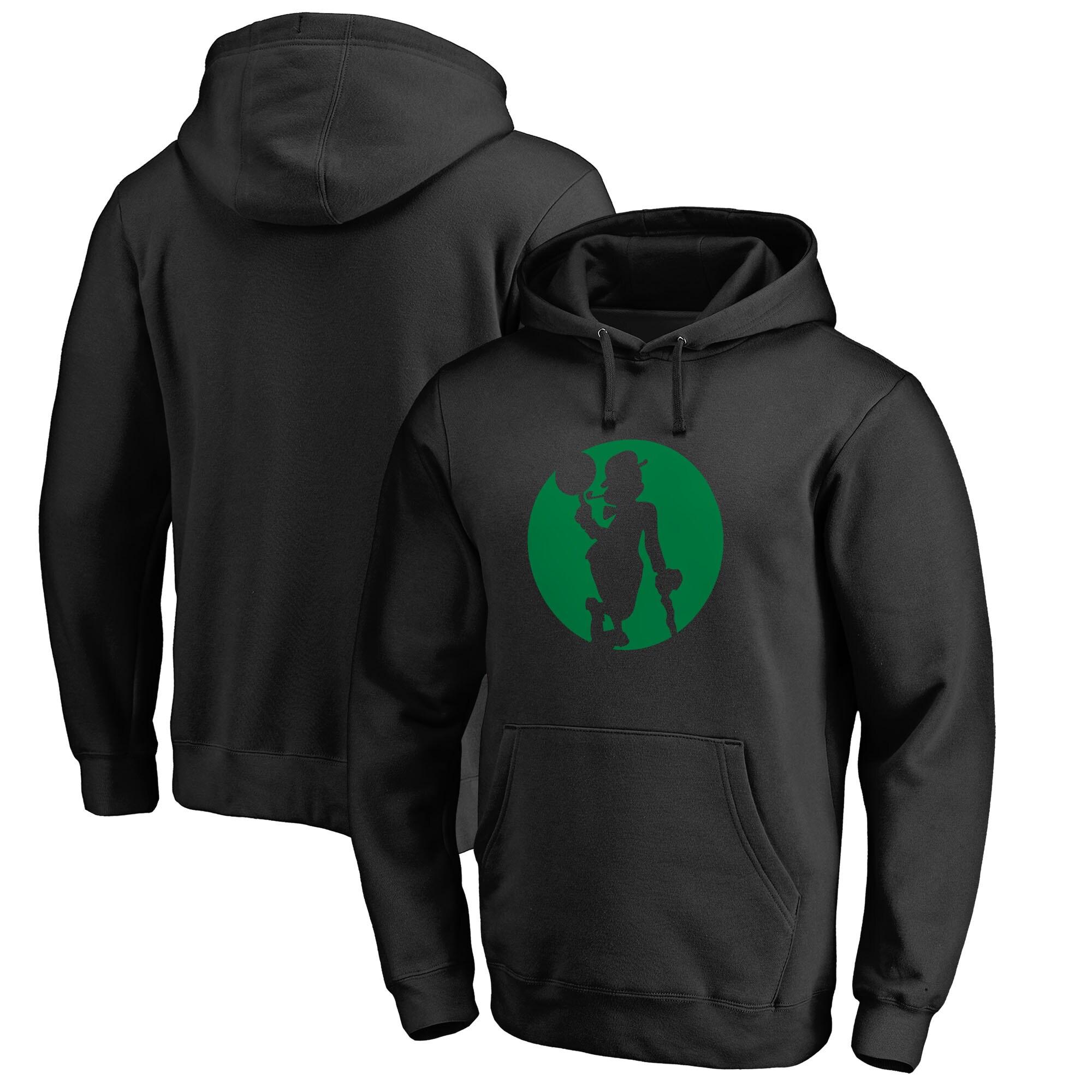 Boston Celtics Fanatics Branded Alternate Logo Pullover Hoodie - Black
