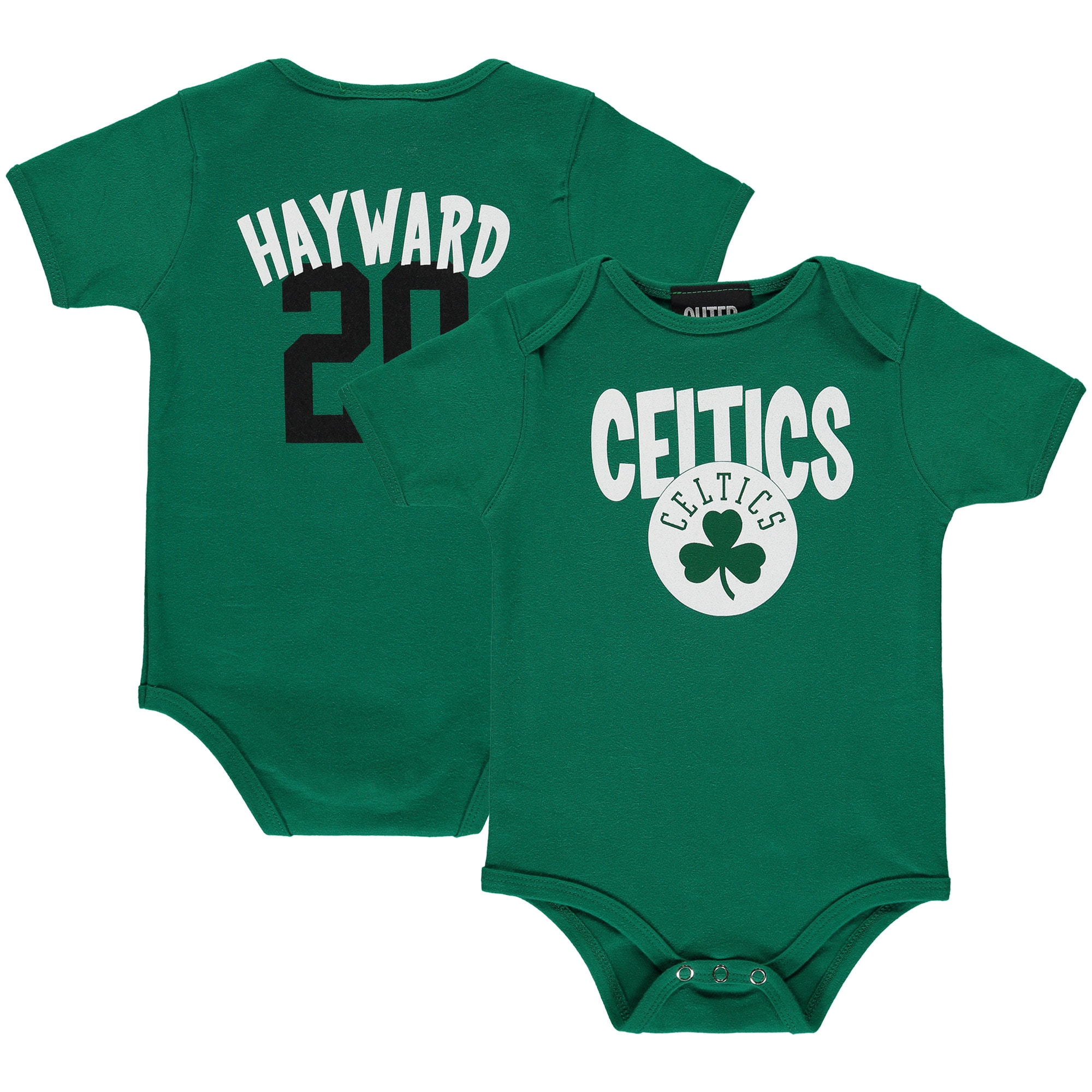 Gordon Hayward Boston Celtics Infant Name & Number Creeper - Kelly Green