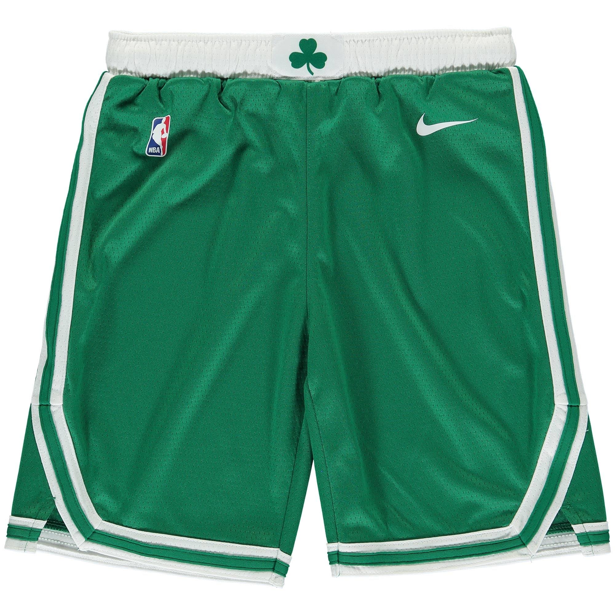 Boston Celtics Nike Youth Swingman Icon Performance Shorts - Kelly Green/White