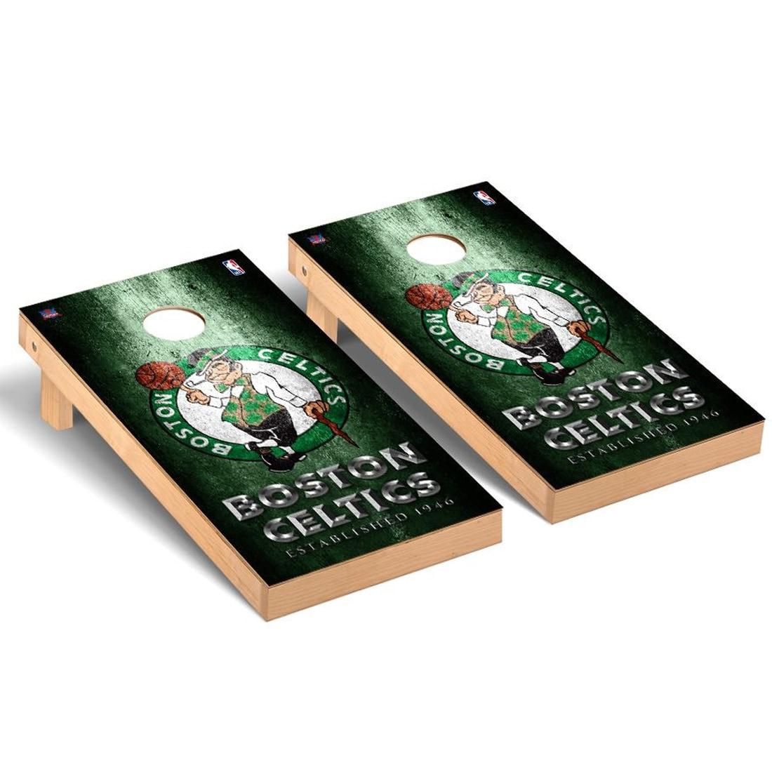 Boston Celtics 2' x 4' Metal Design Cornhole Game Set