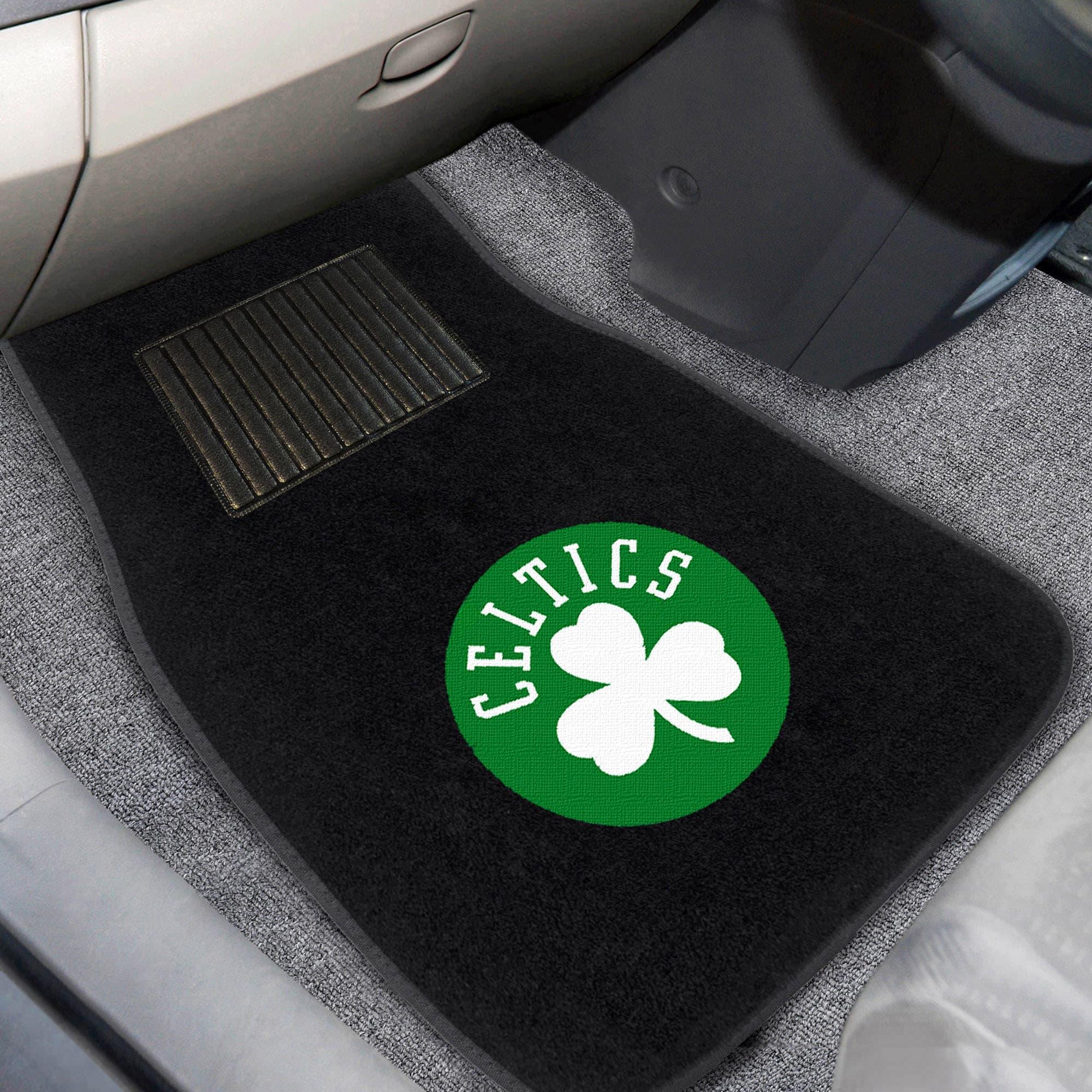 Boston Celtics 2-Piece Embroidered Car Mat Set