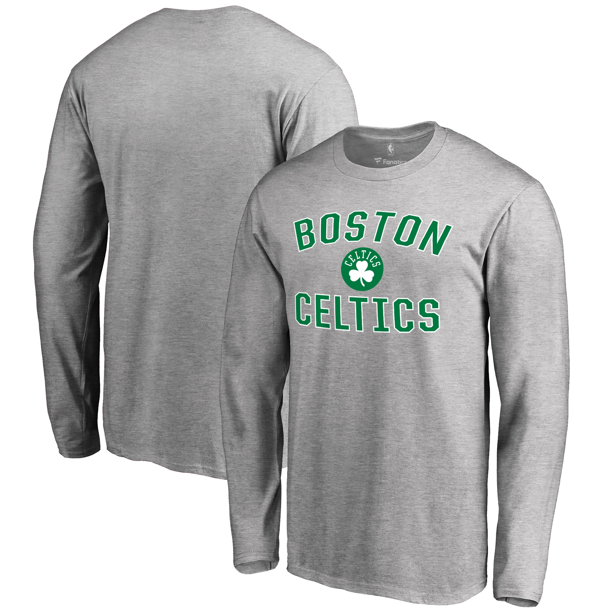 Boston Celtics Big & Tall Victory Arch Long Sleeve T-Shirt - Ash