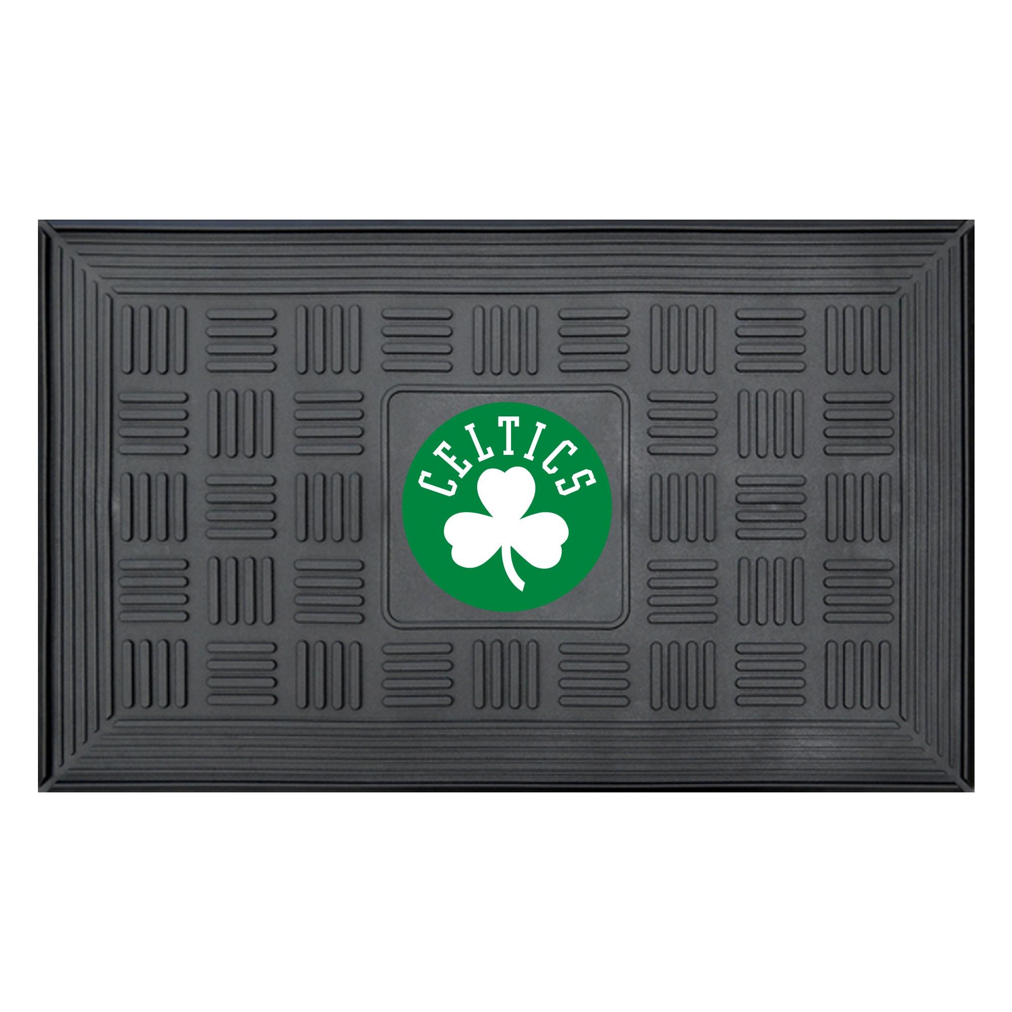 """Boston Celtics 19"""" x 30"""" Vinyl Medallion Door Mat - Black"""