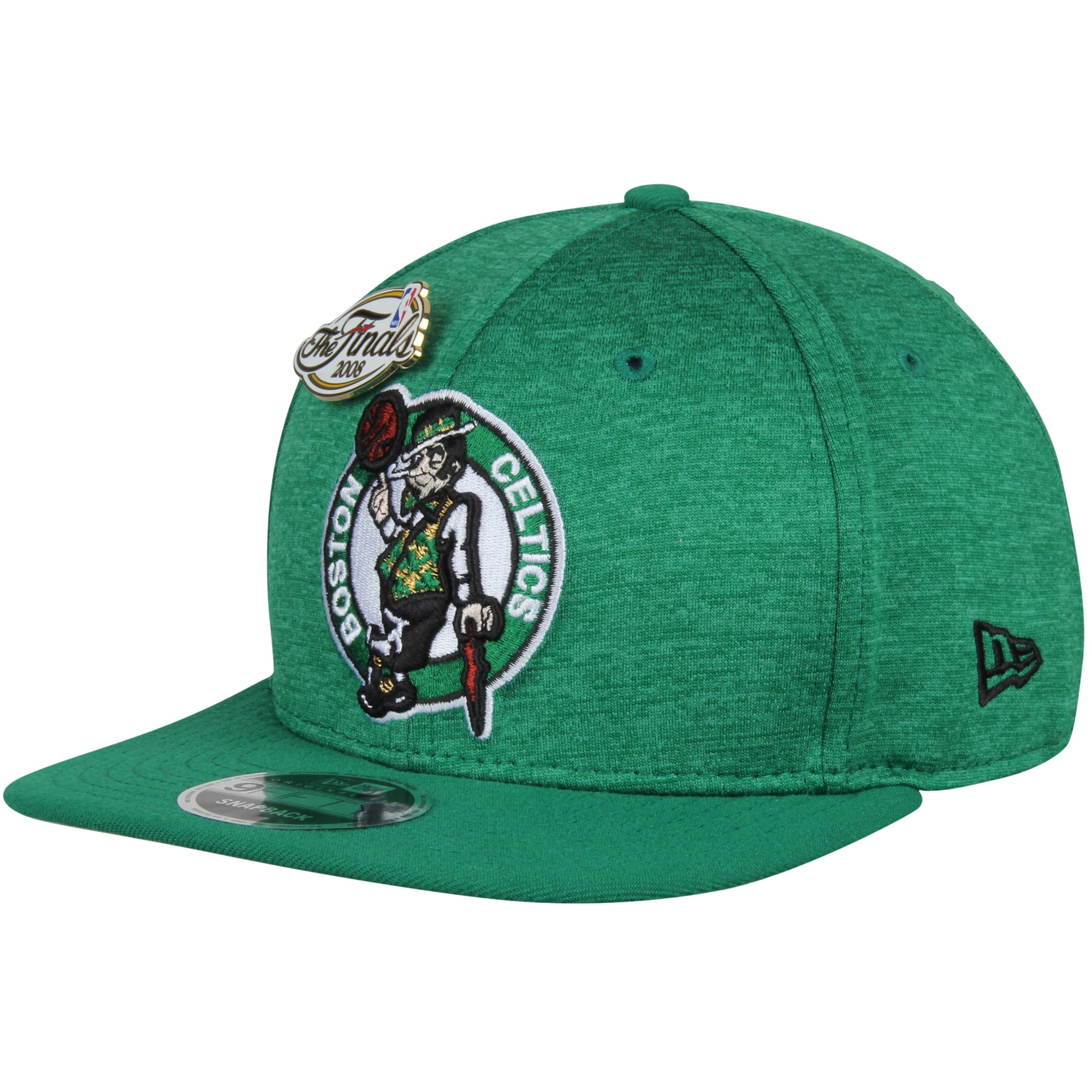 Boston Celtics New Era Pin Collection 9FIFTY Adjustable Snapback Hat - Heathered Kelly Green