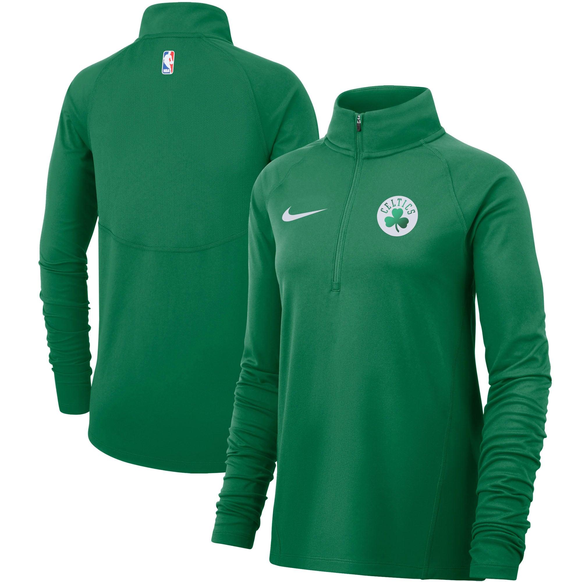Boston Celtics Nike Women's Element Performance Raglan Sleeve Half-Zip Pullover Jacket - Kelly Green