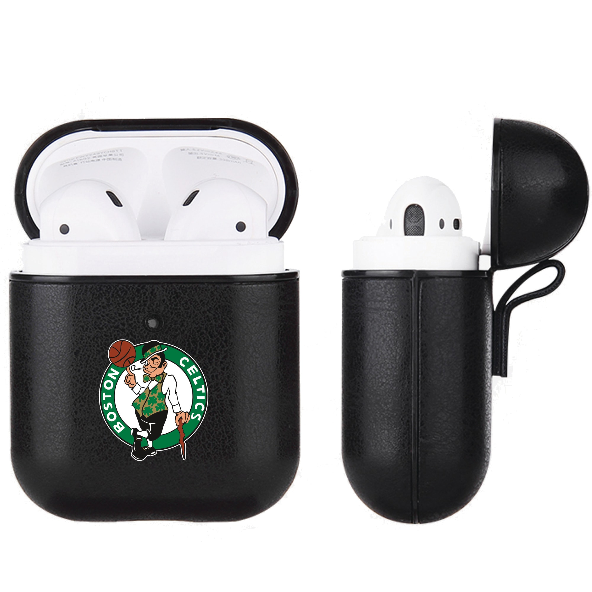 Boston Celtics Air Pods Black Leatherette Case
