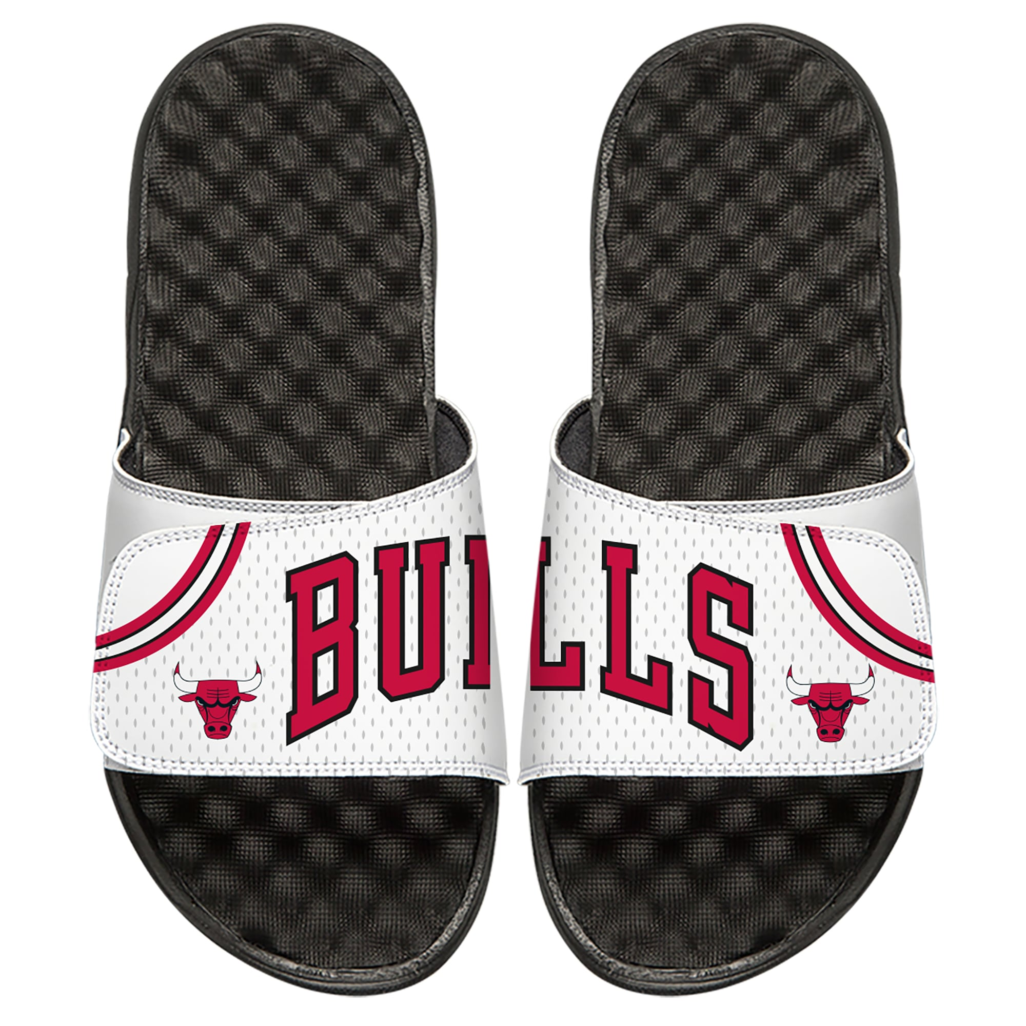 Chicago Bulls ISlide Home Jersey Split Slide Sandals - White
