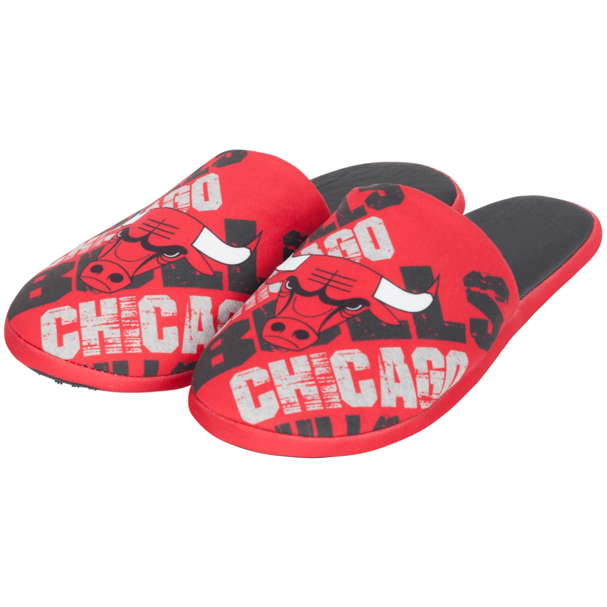 Chicago Bulls Digital Print Slippers - Red