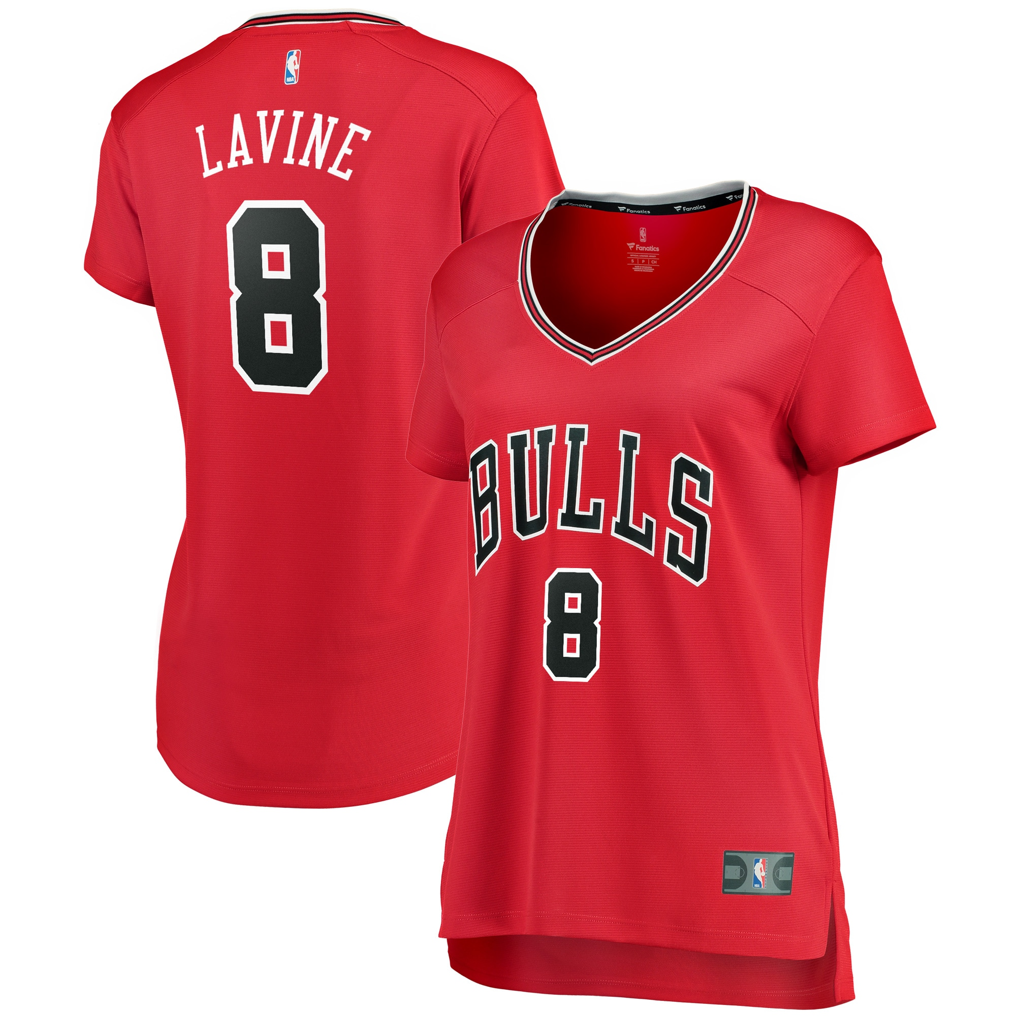 Zach LaVine Chicago Bulls Fanatics Branded Women's Fast Break Jersey Red - Icon Edition