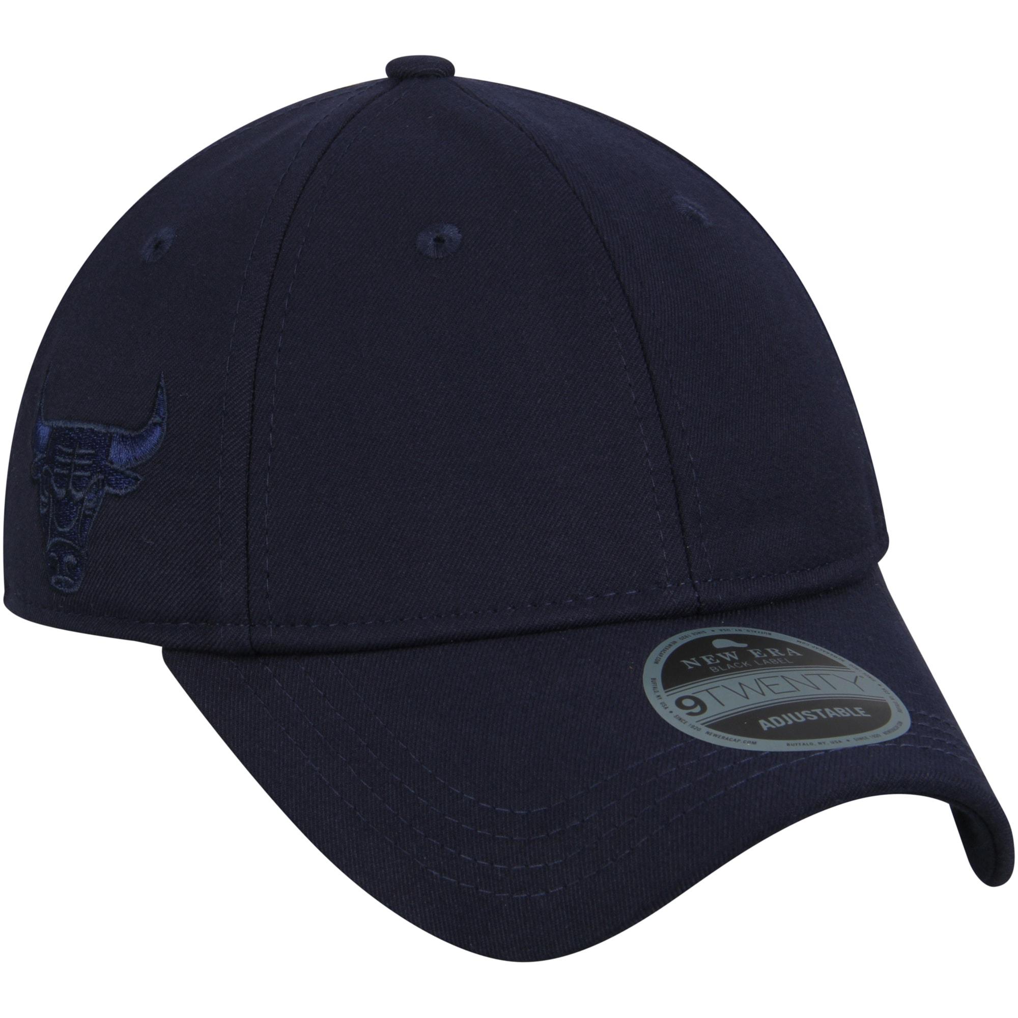 Chicago Bulls New Era Black Label Series Suiting 9TWENTY Adjustable Hat - Navy