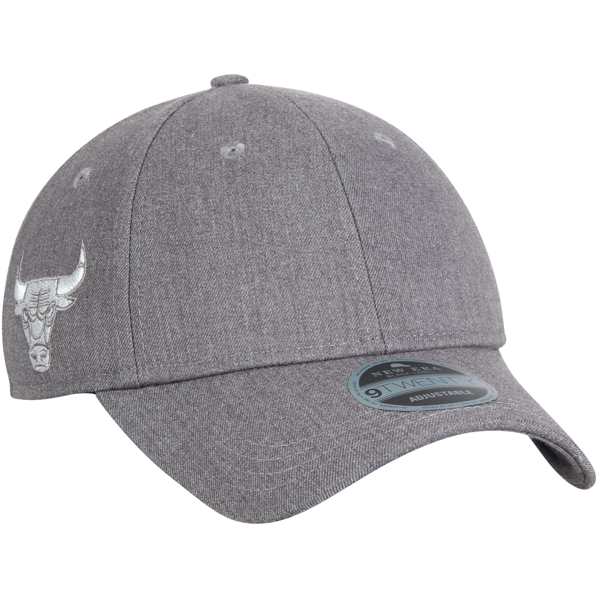 Chicago Bulls New Era Black Label Series Suiting 9TWENTY Adjustable Hat - Gray