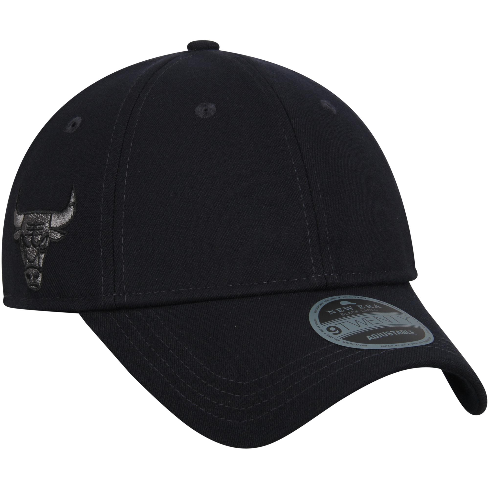 Chicago Bulls New Era Black Label Series Suiting 9TWENTY Adjustable Hat - Black