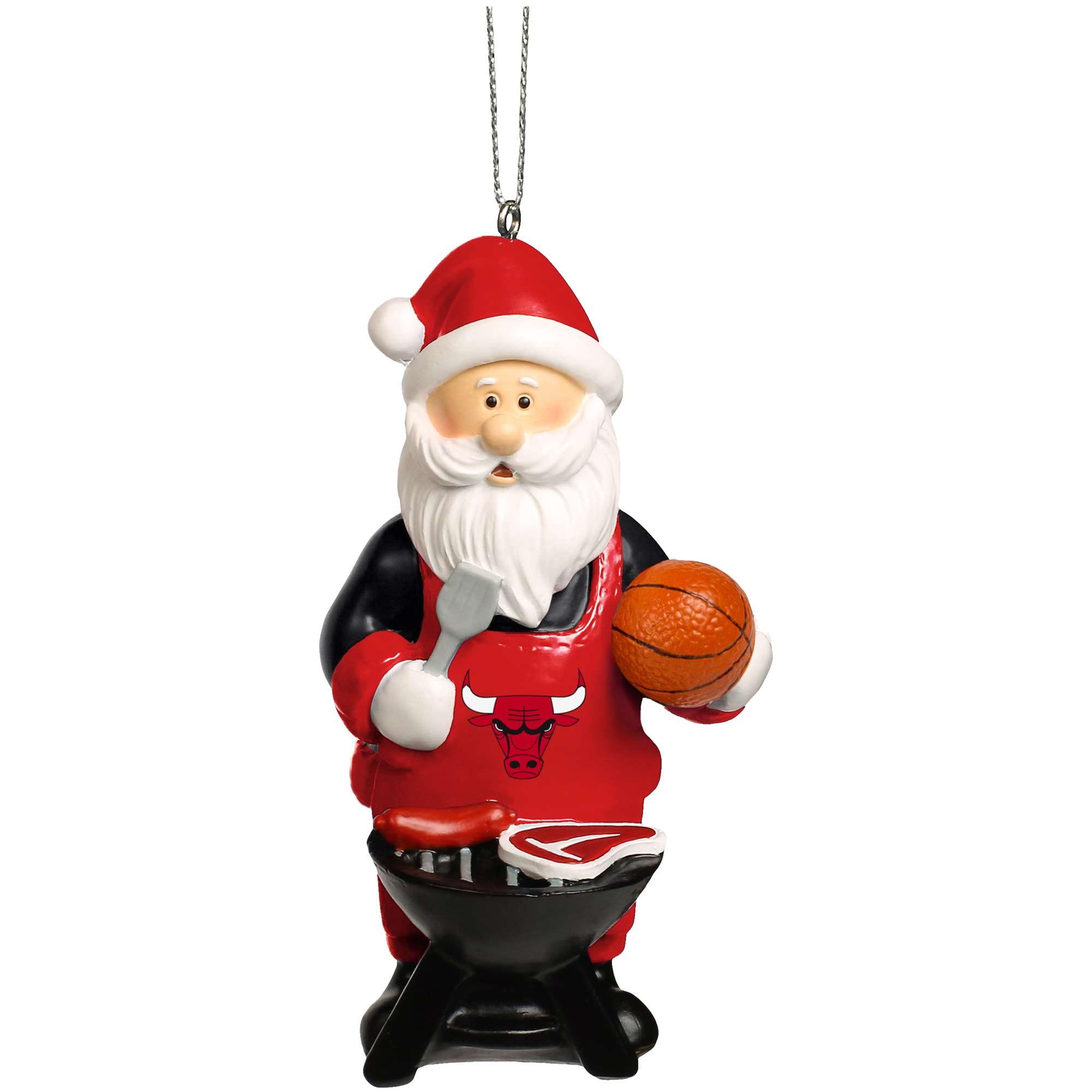 Chicago Bulls Santa Grill Ornament