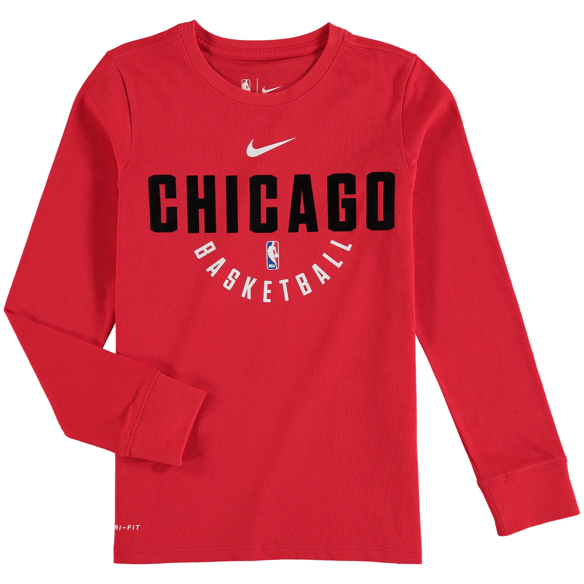 Chicago Bulls Nike Youth Elite Performance Practice Long Sleeve T-Shirt - Red