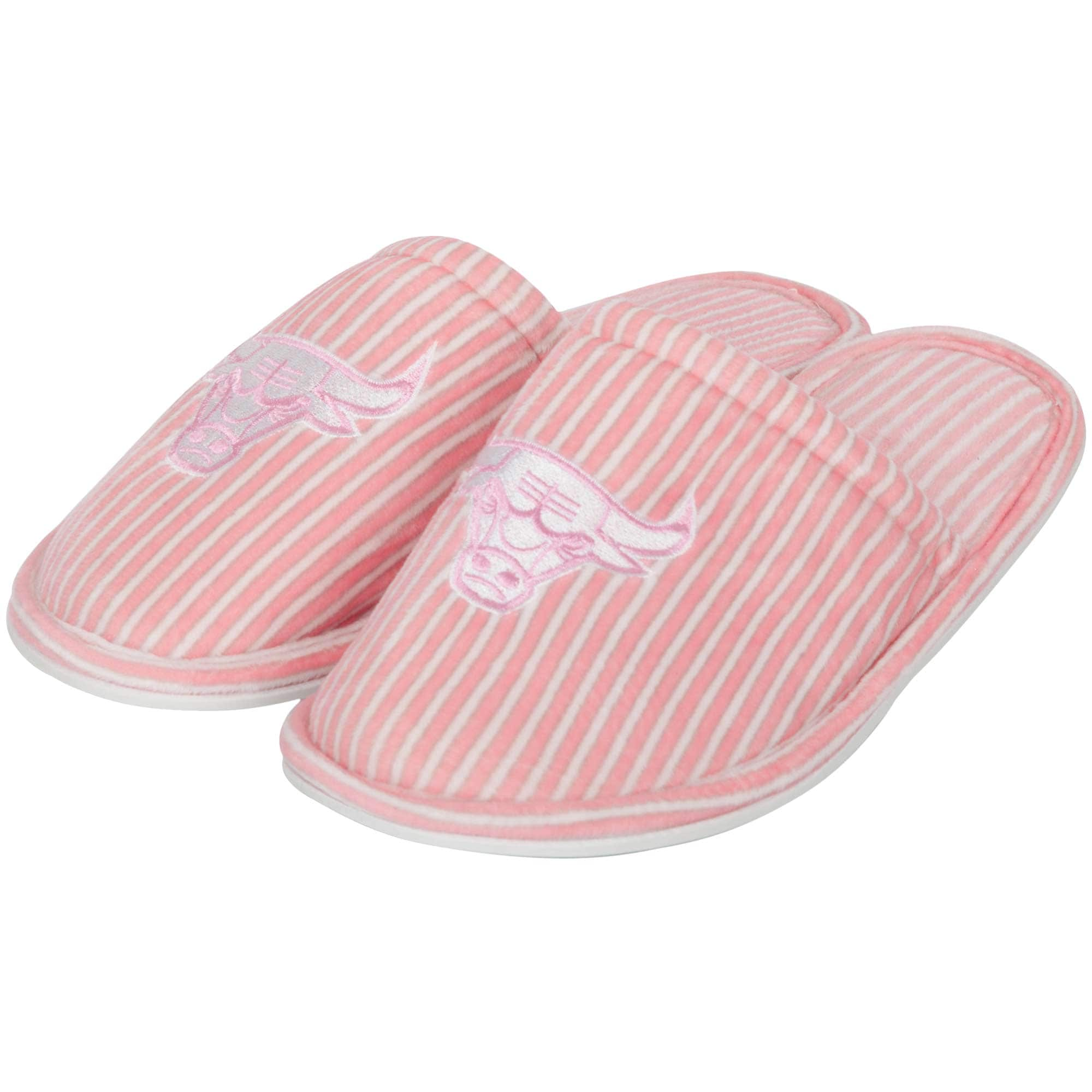 Chicago Bulls Women's Slide Slipper - Pink