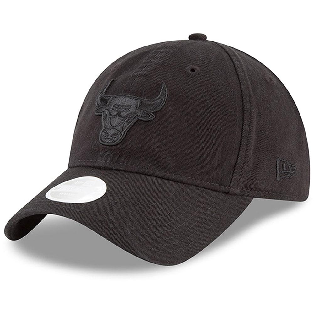 Chicago Bulls New Era Women's Core Classic Logo 9TWENTY Adjustable Hat - Black
