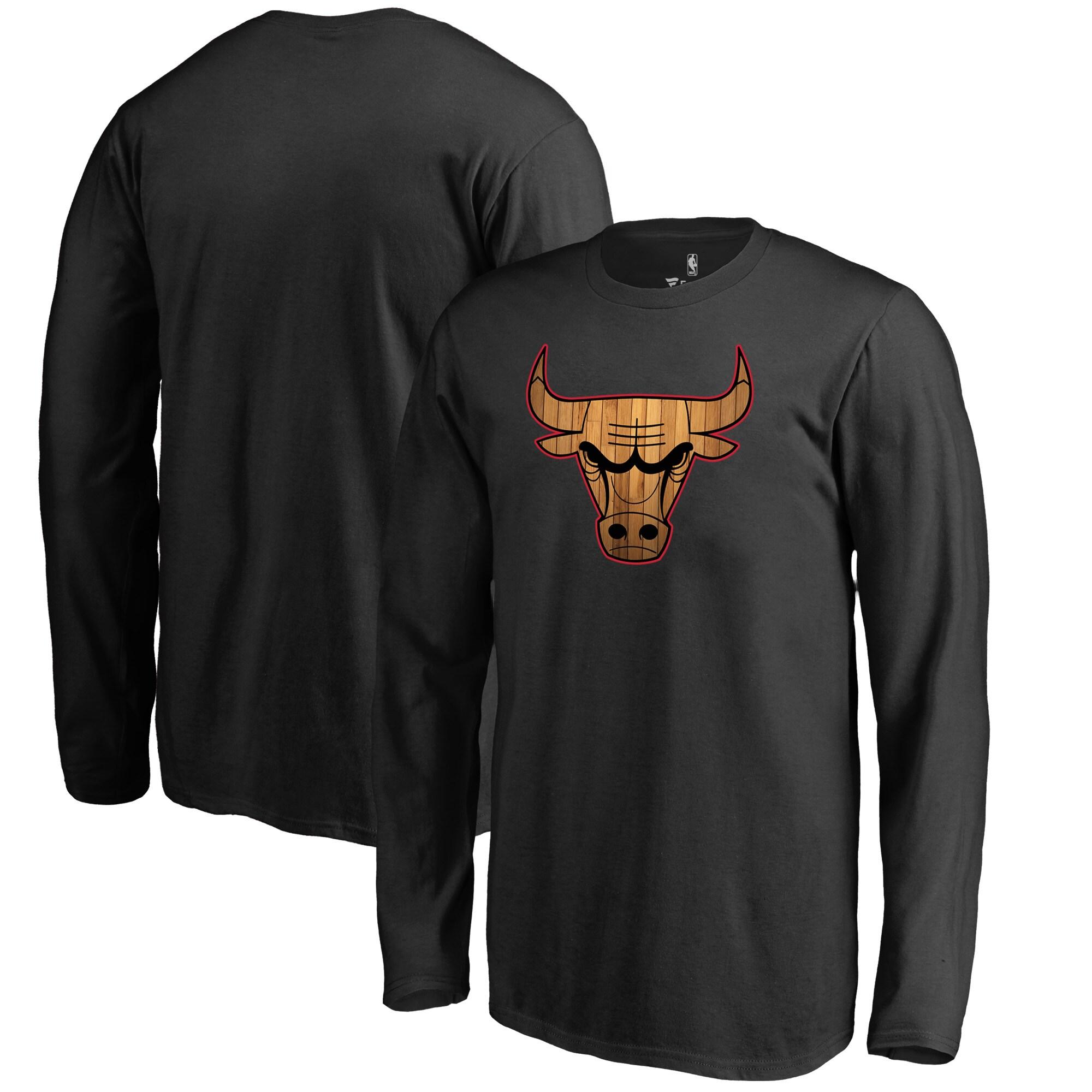 Chicago Bulls Fanatics Branded Youth Hardwood Long Sleeve T-Shirt - Black