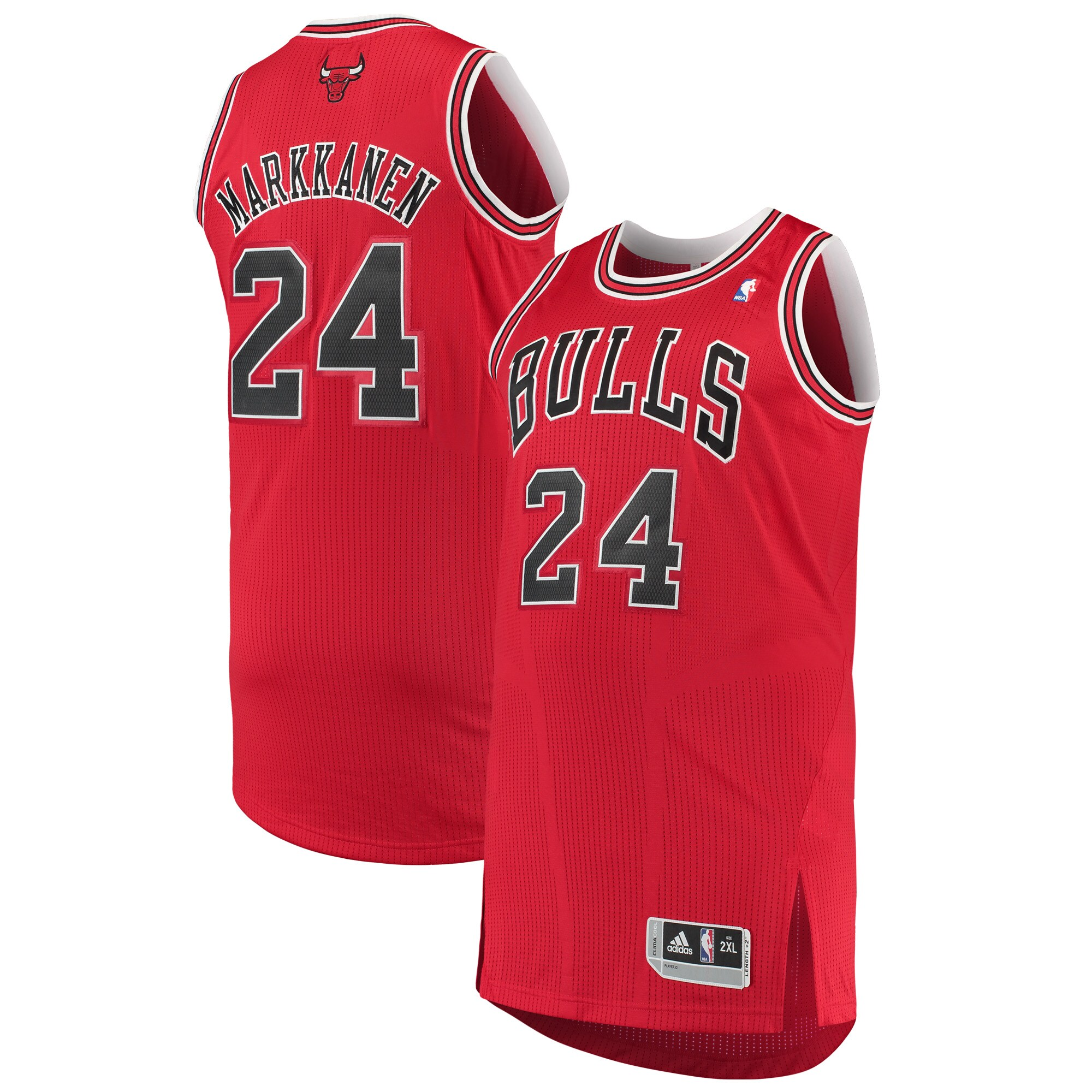 Lauri Markkanen Chicago Bulls adidas Finished Authentic Jersey - Red