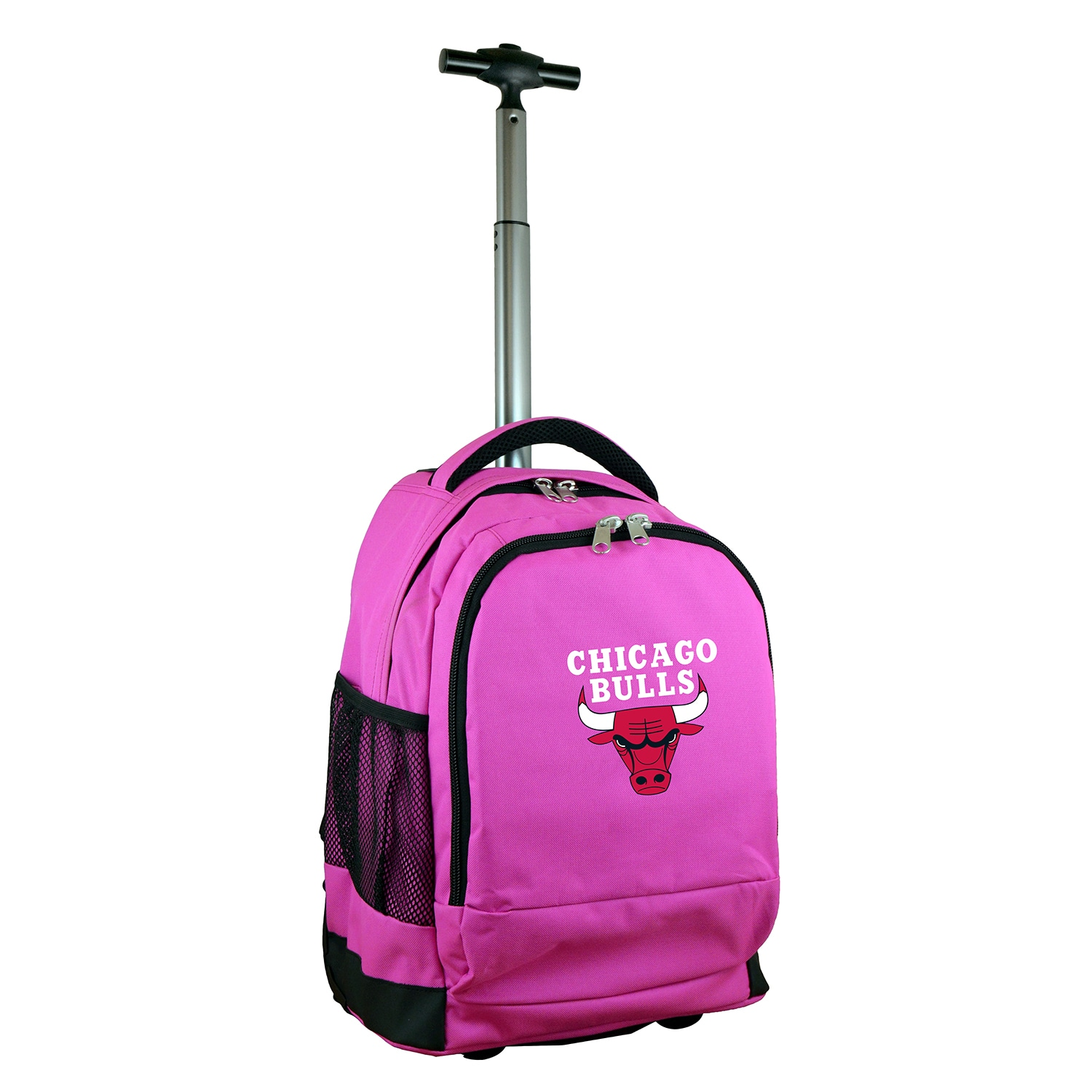 Chicago Bulls 19'' Premium Wheeled Backpack - Pink