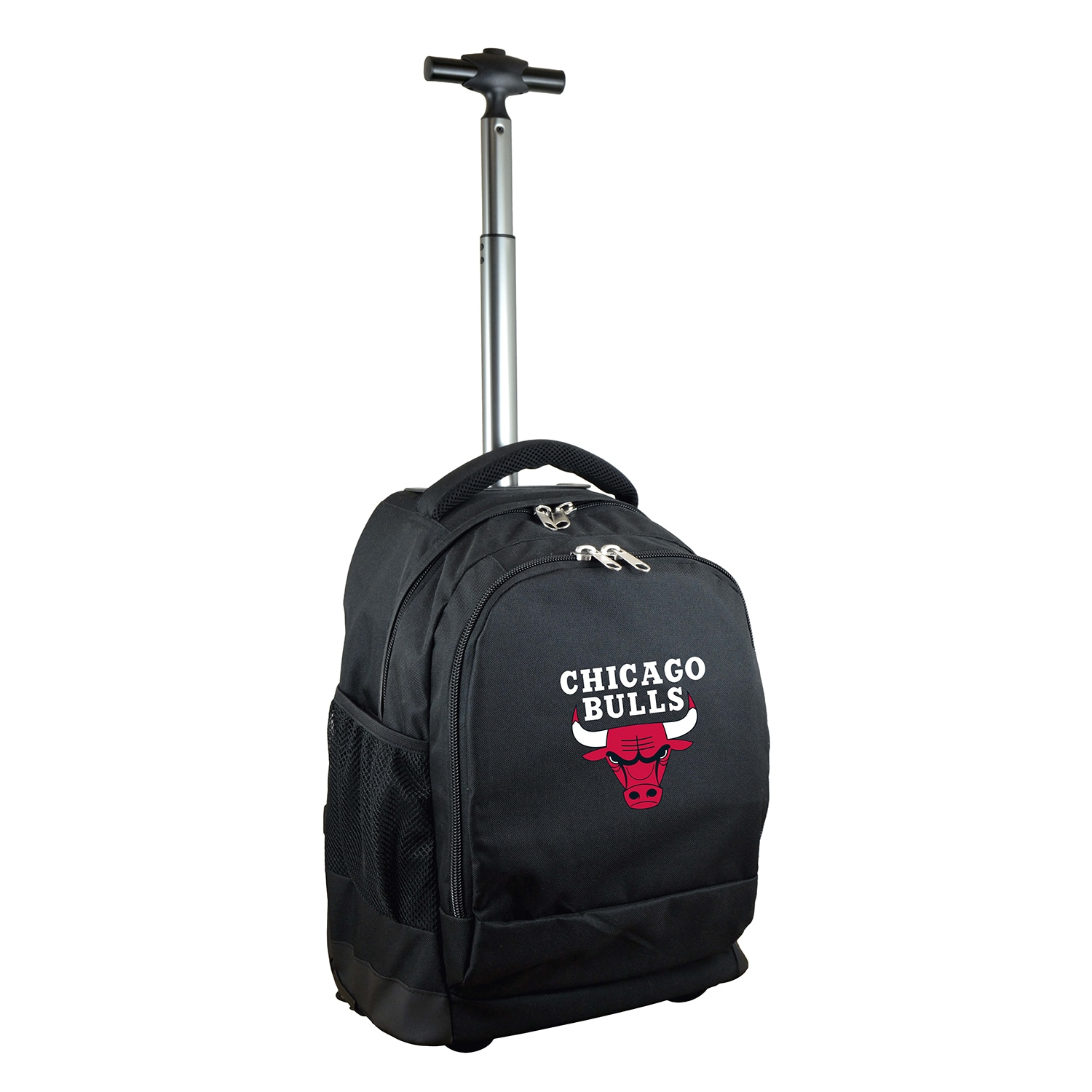 Chicago Bulls 19'' Premium Wheeled Backpack - Black