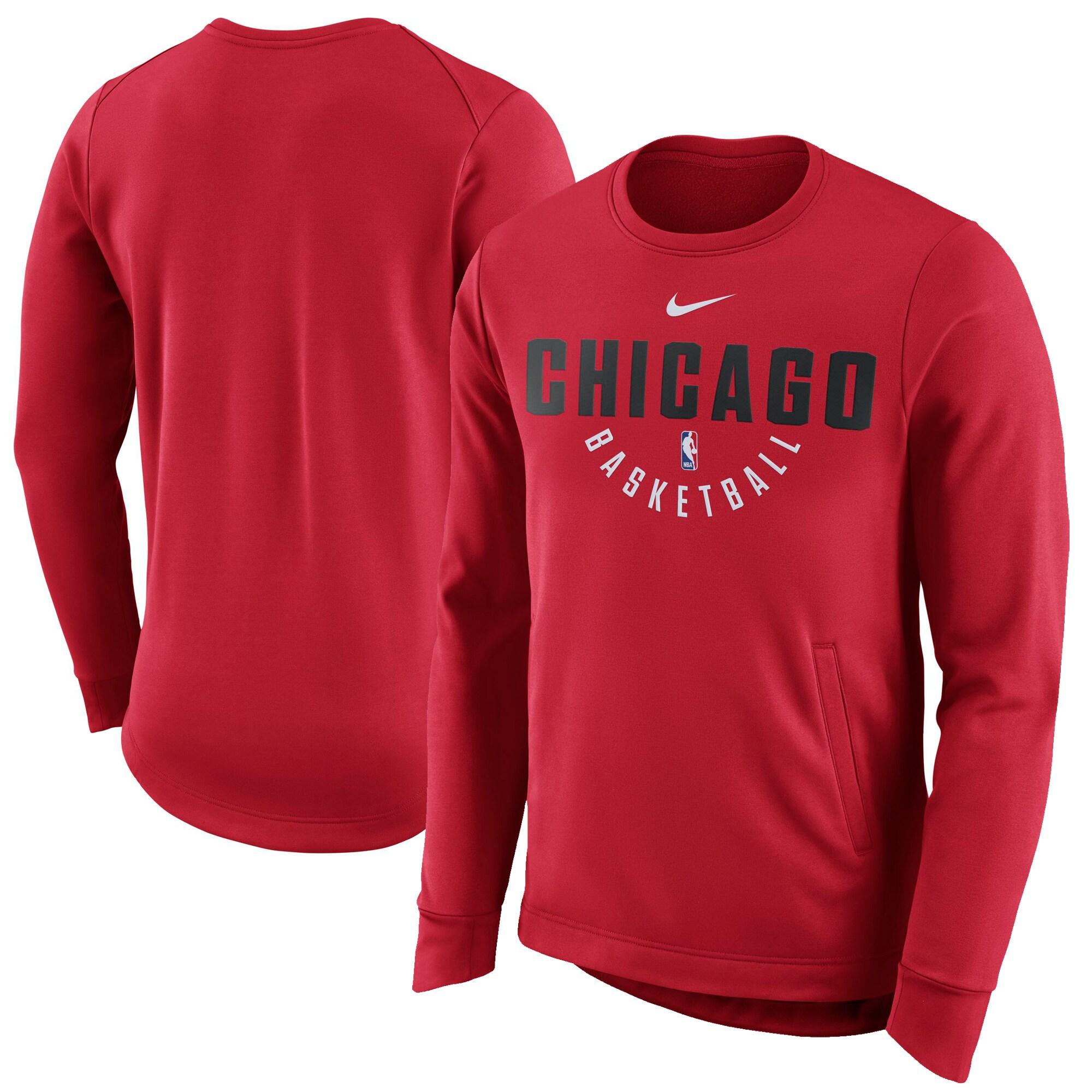 Chicago Bulls Nike Practice Fleece Performance Sweatshirt - Red