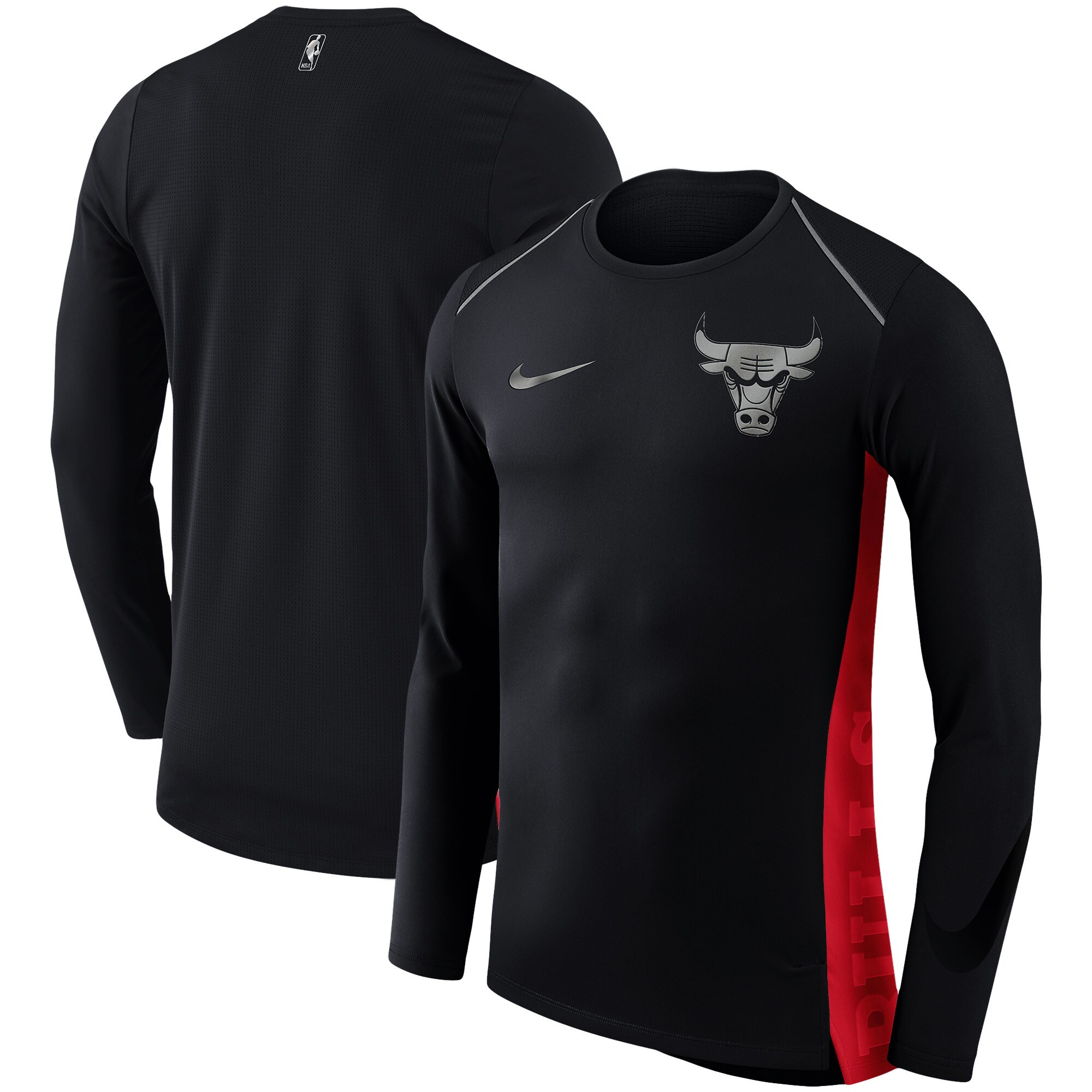 Chicago Bulls Nike Holiday HyperElite Dry Shooter Statement Edition Long Sleeve T-Shirt - Black