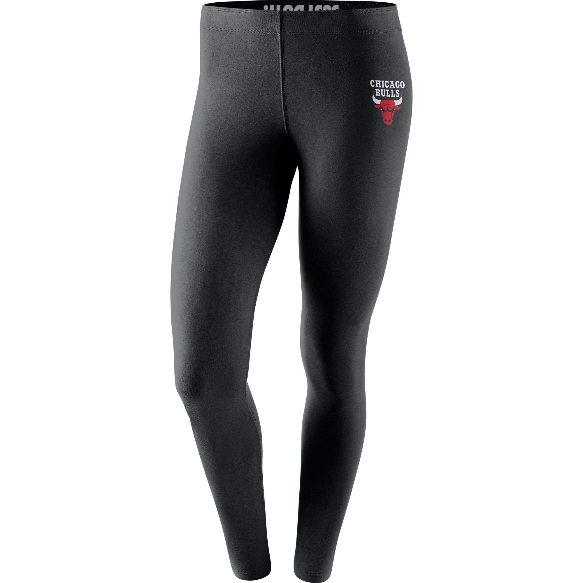 Chicago Bulls Nike Women's Leg-A-See Tights - Black