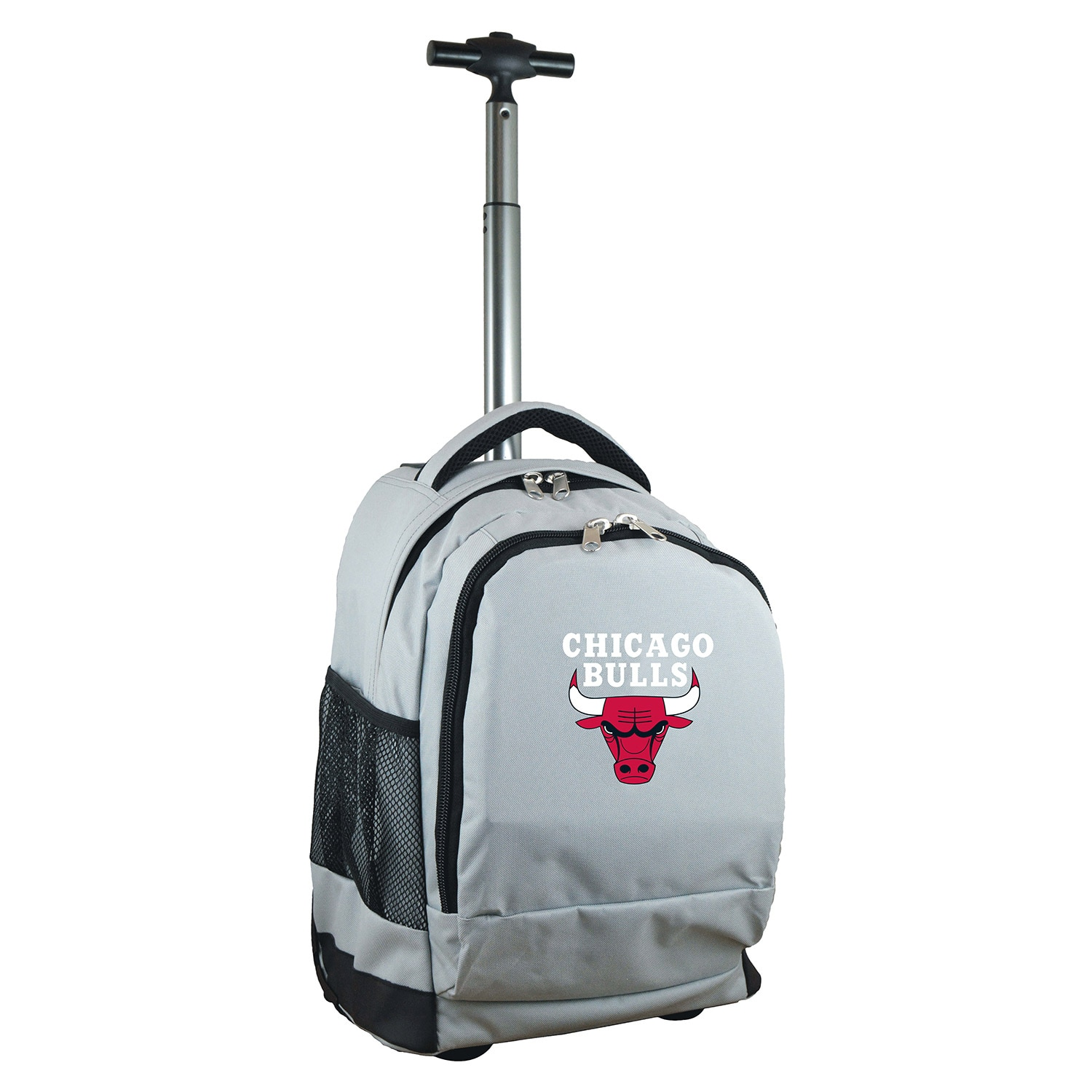 Chicago Bulls 19'' Premium Wheeled Backpack - Gray
