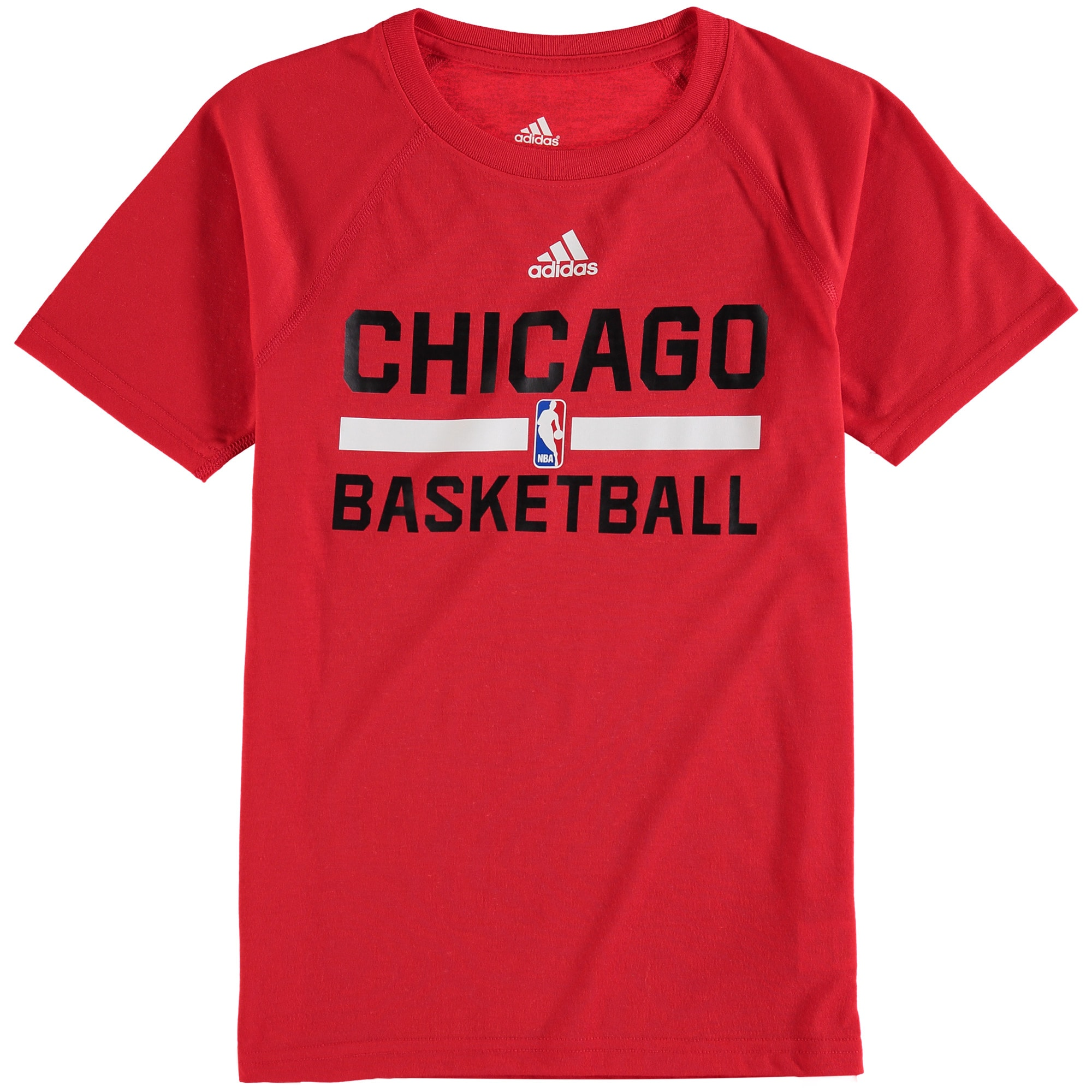 Chicago Bulls adidas Youth On-Court Practice climalite T-Shirt - Red