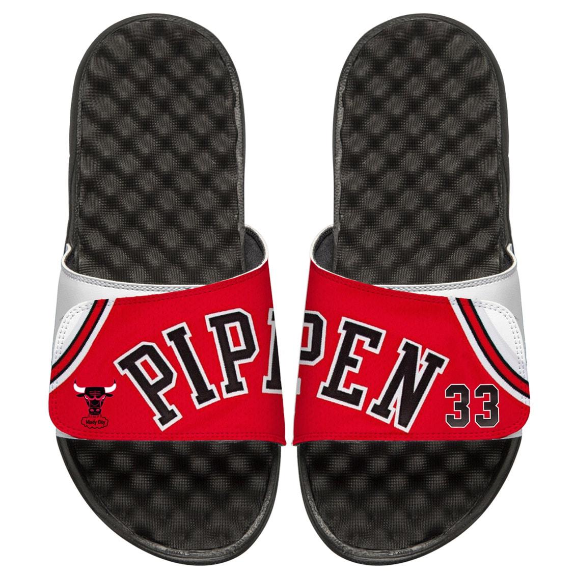 Scottie Pippen Chicago Bulls ISlide Youth Retro Jersey Slide Sandals
