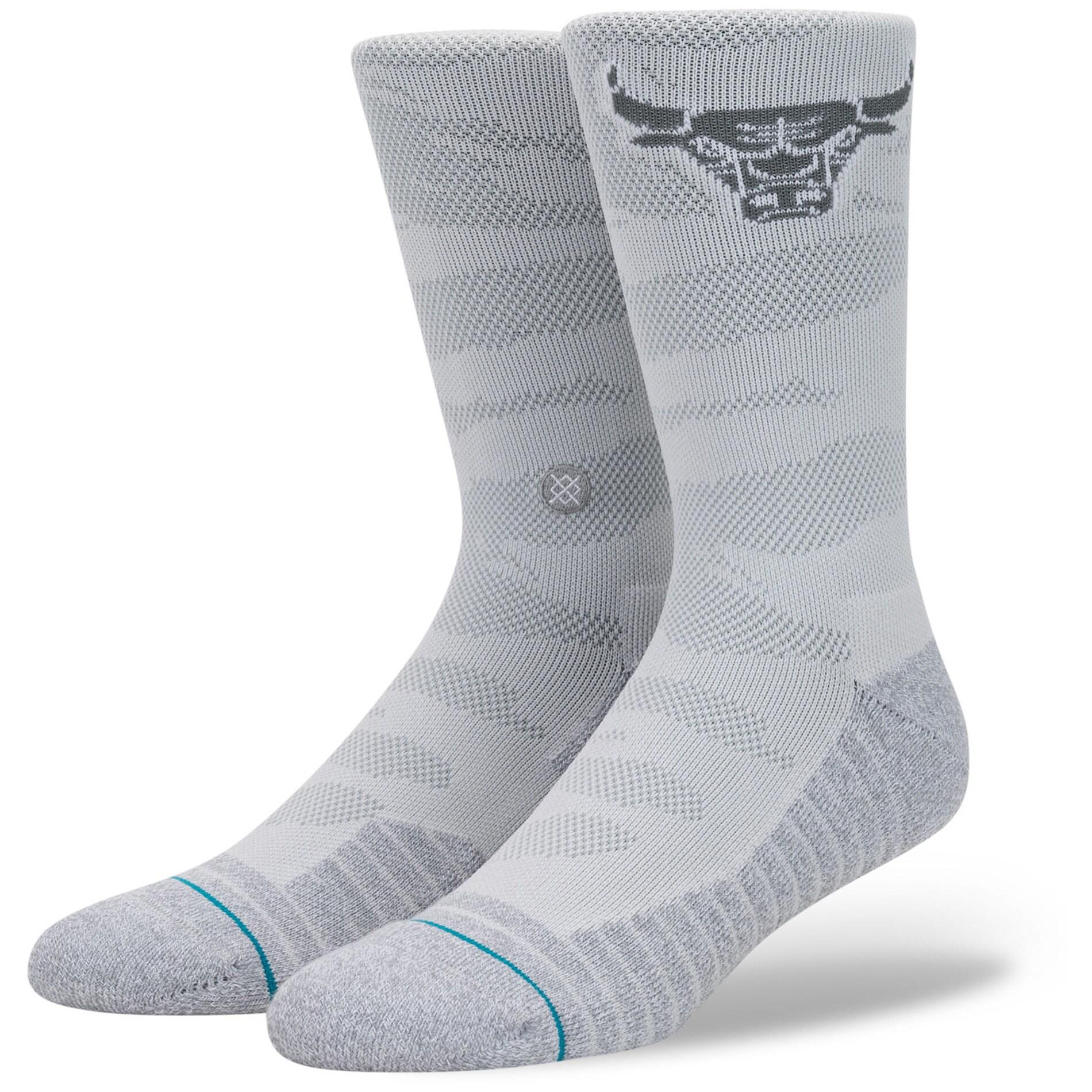 Chicago Bulls Stance Snow Camo Crew Sock - Gray