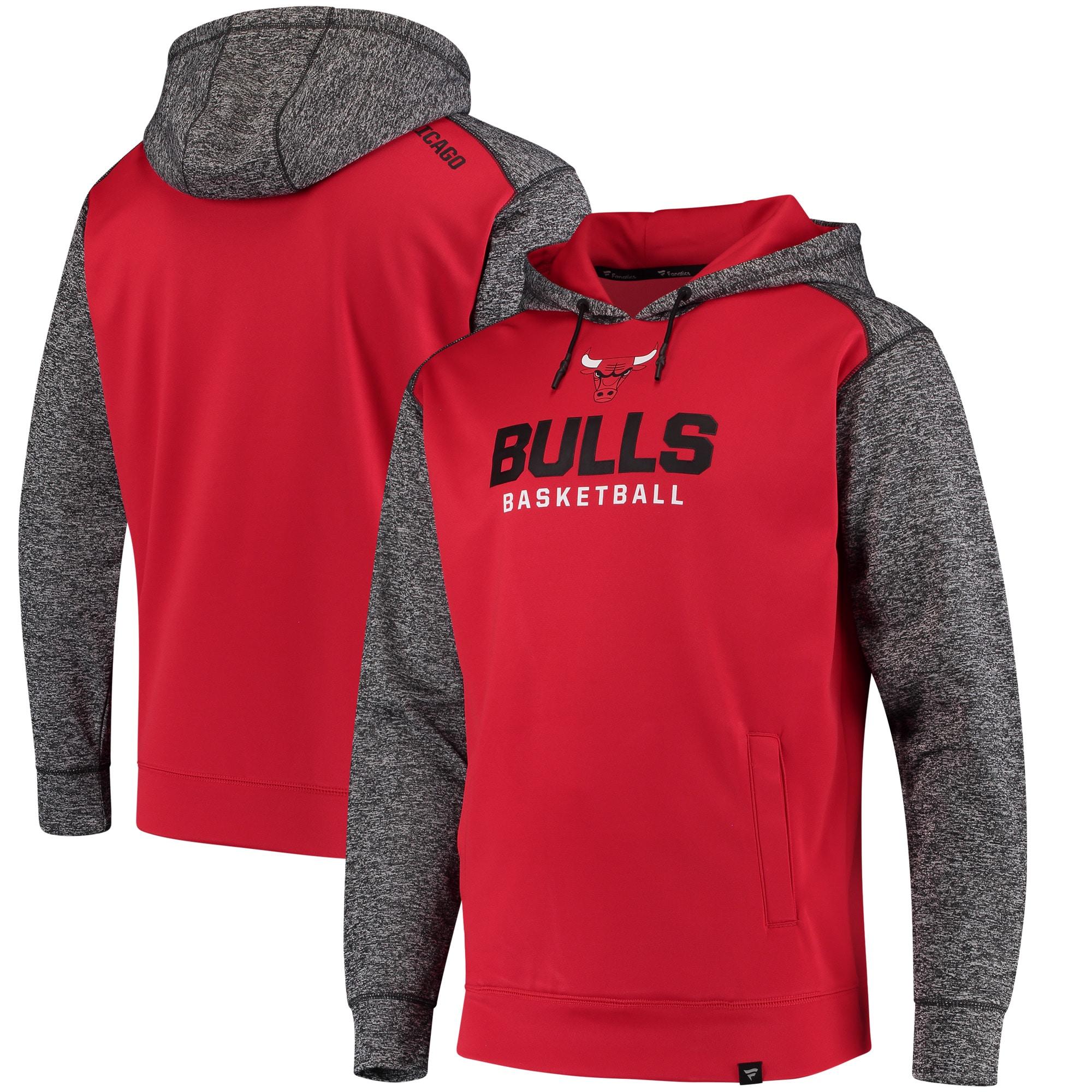Chicago Bulls Fanatics Branded Static Fleece Pullover Hoodie - Red