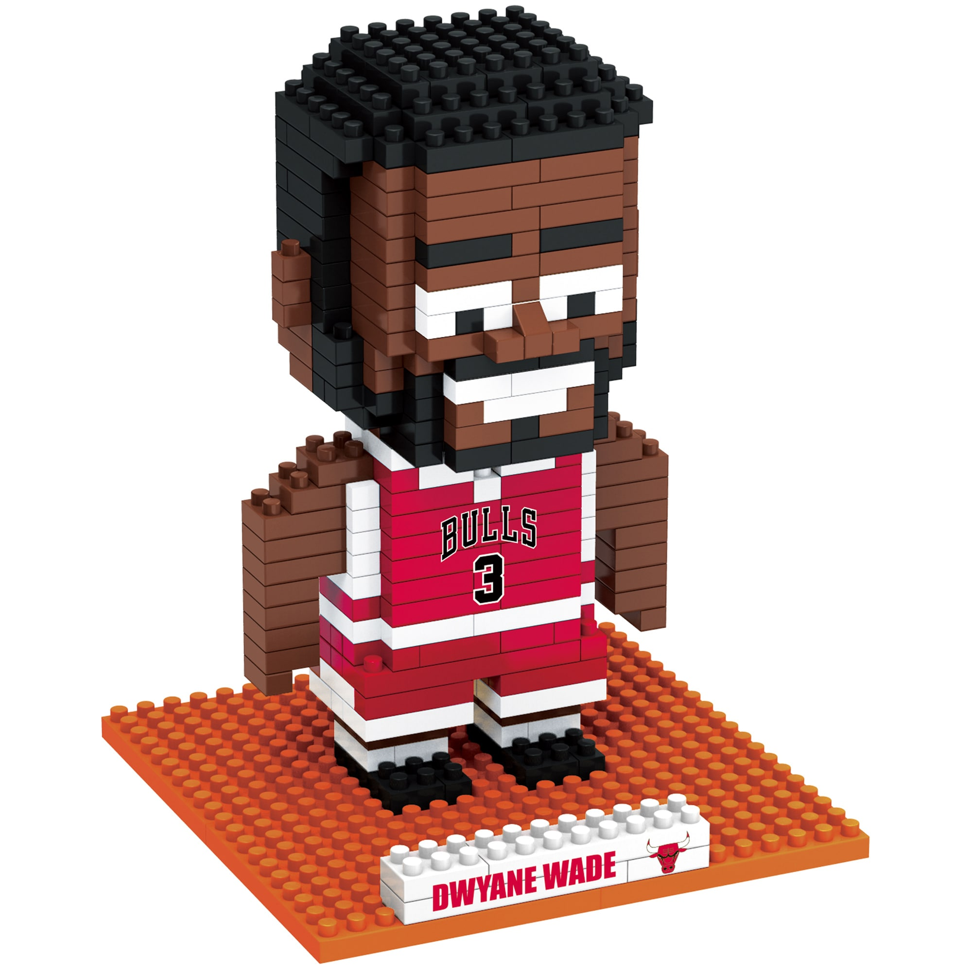 Dwyane Wade Chicago Bulls Player BRXLZ 3D Puzzle