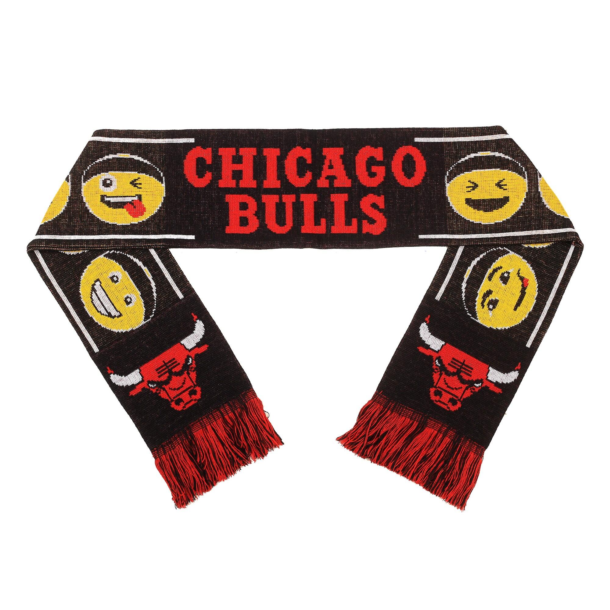 Chicago Bulls Teamoji Acrylic Scarf