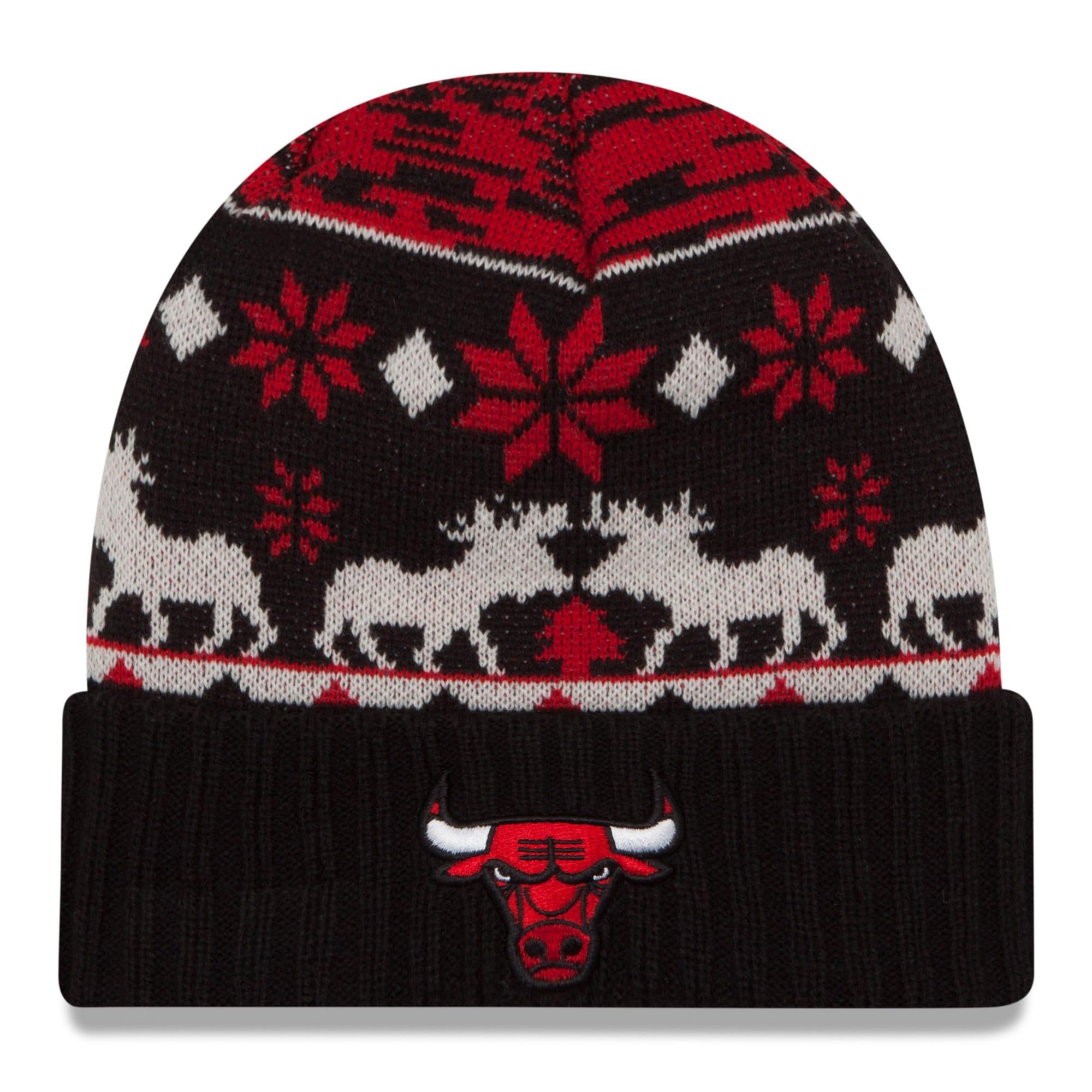 Chicago Bulls New Era NBA Mosser Cuffed Knit Hat - Red