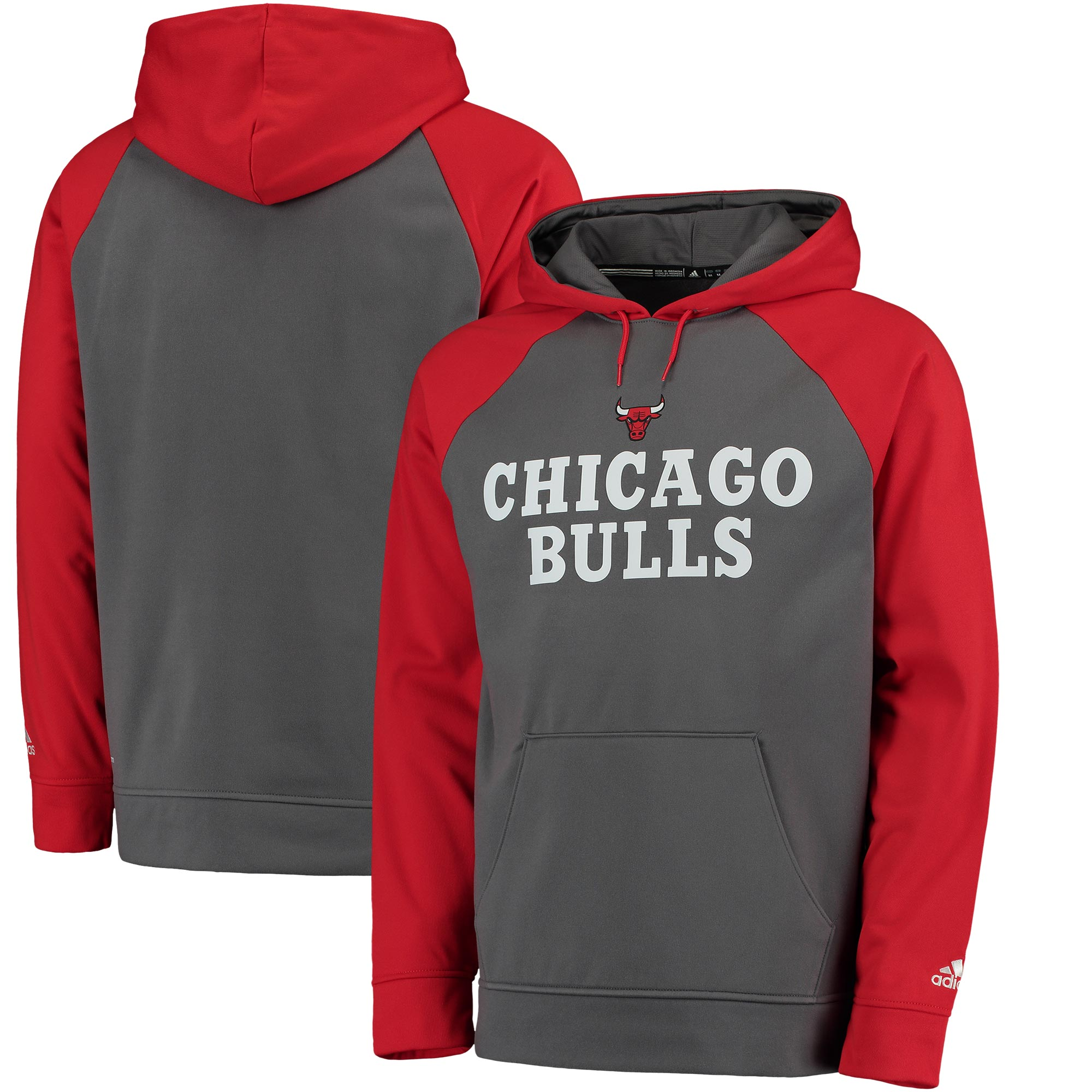 Chicago Bulls adidas 2016 Tip-Off Pullover Hoodie - Gray/Red
